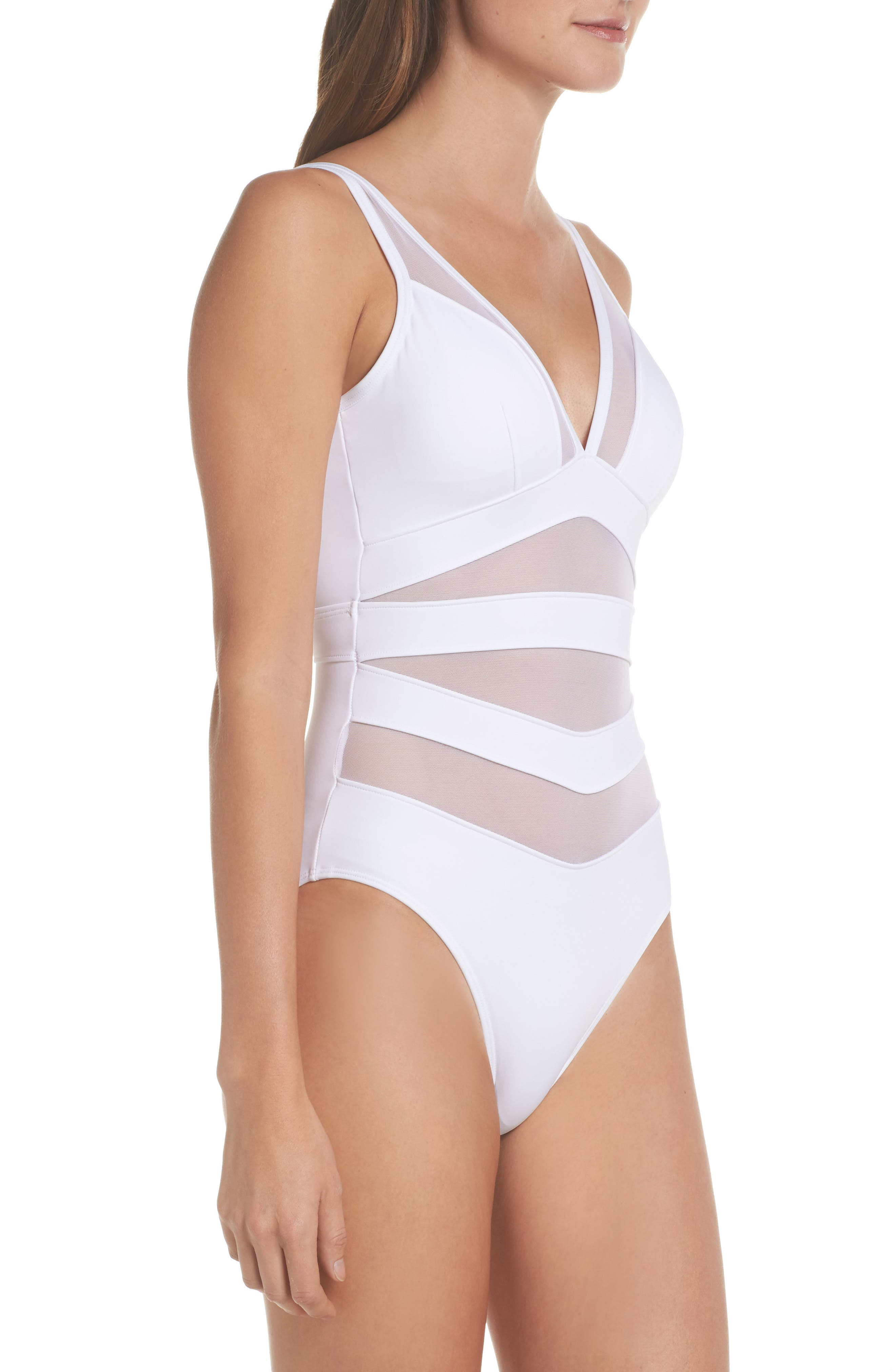 Alternate Image 3  - Ted Baker London Illiana Mesh Detail One-Piece Swimsuit