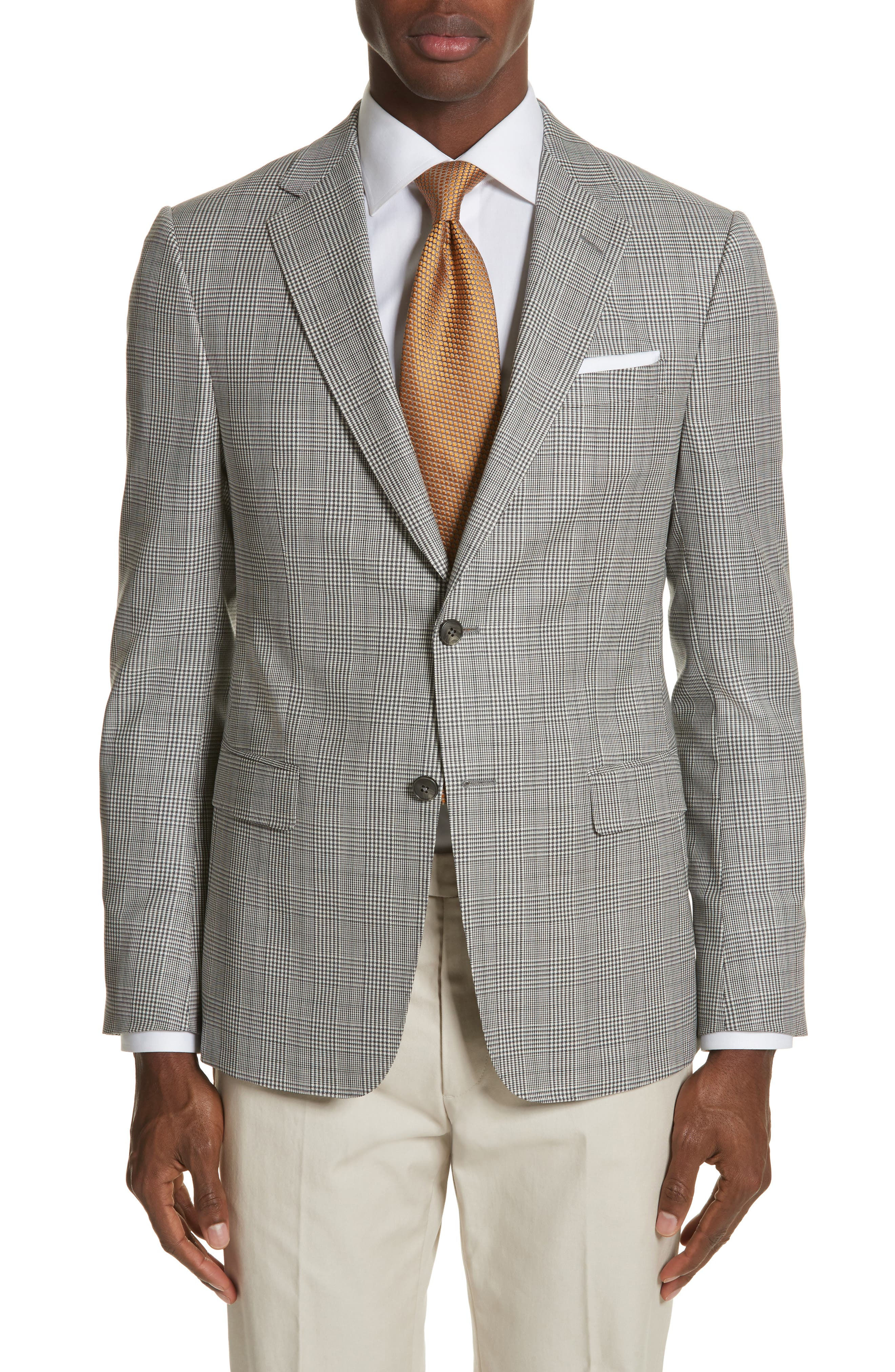 Classic Fit Plaid Wool Sport Coat,                         Main,                         color, Mid Grey Check