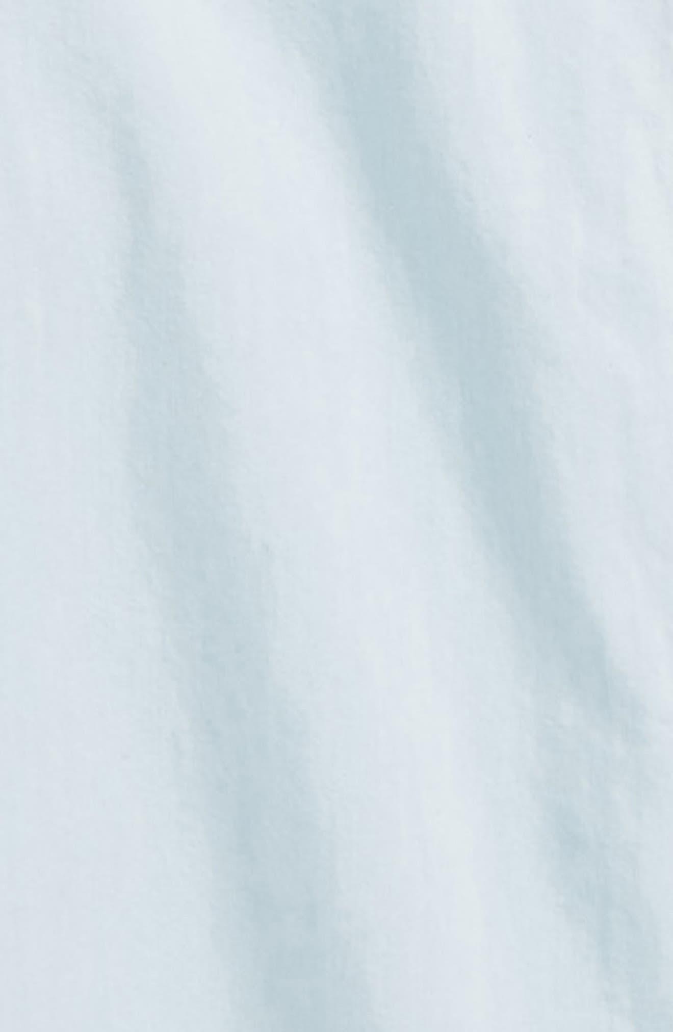 Chambray Lace Trim Shirt,                             Alternate thumbnail 3, color,                             Light Wash