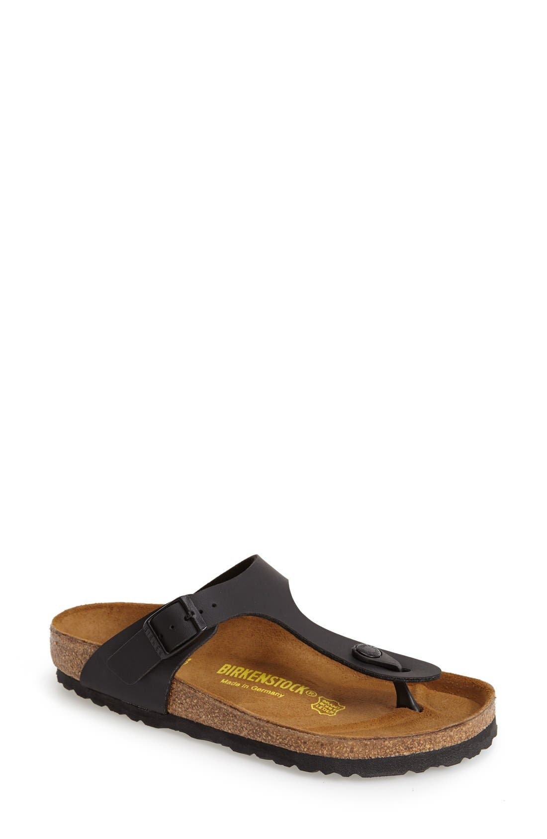 'Gizeh' Birko-Flor Thong Sandal,                         Main,                         color, Black