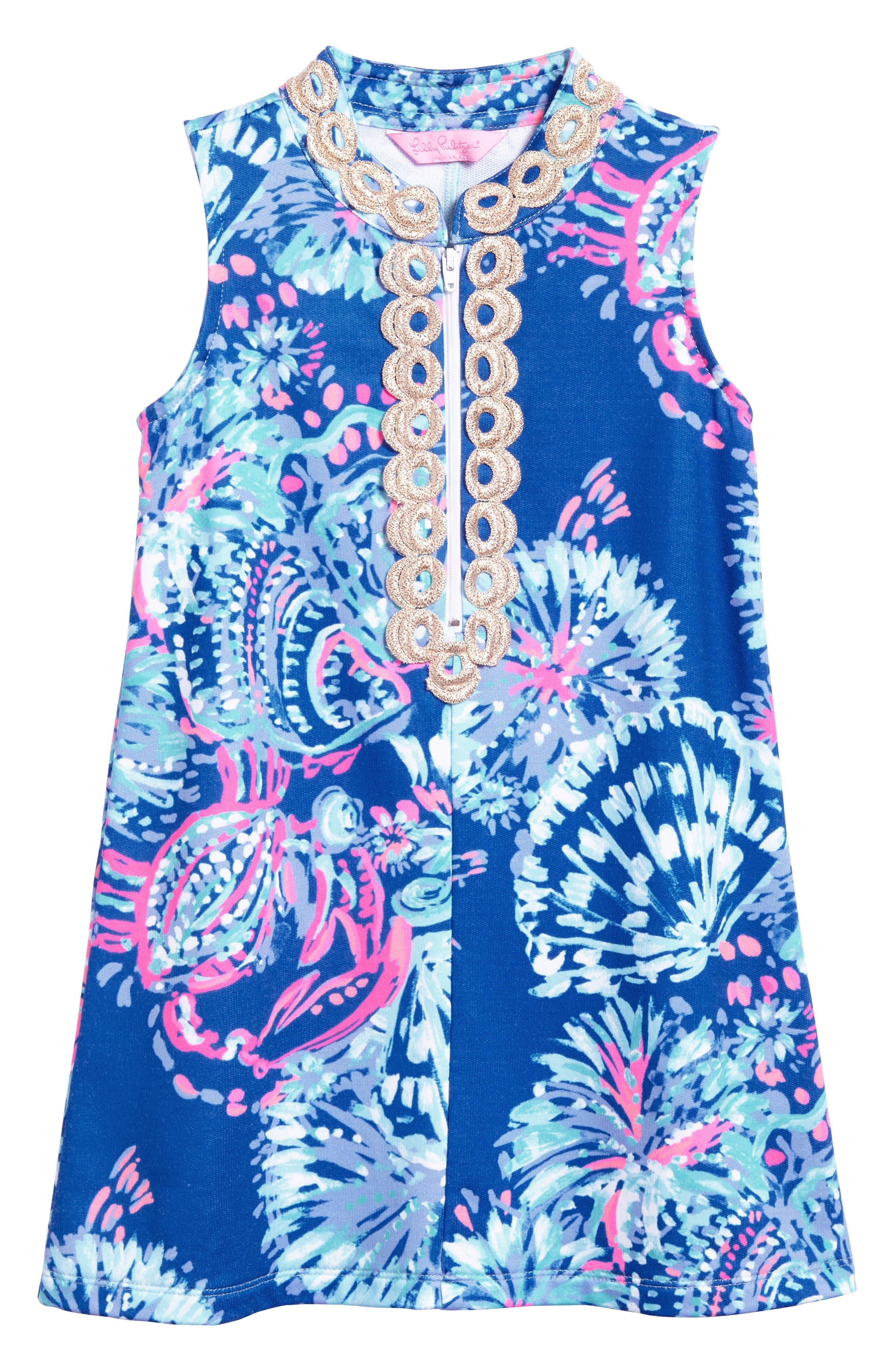 Mini Jane Shift Dress,                             Main thumbnail 1, color,                             Deep Indigo Gypsea Girl