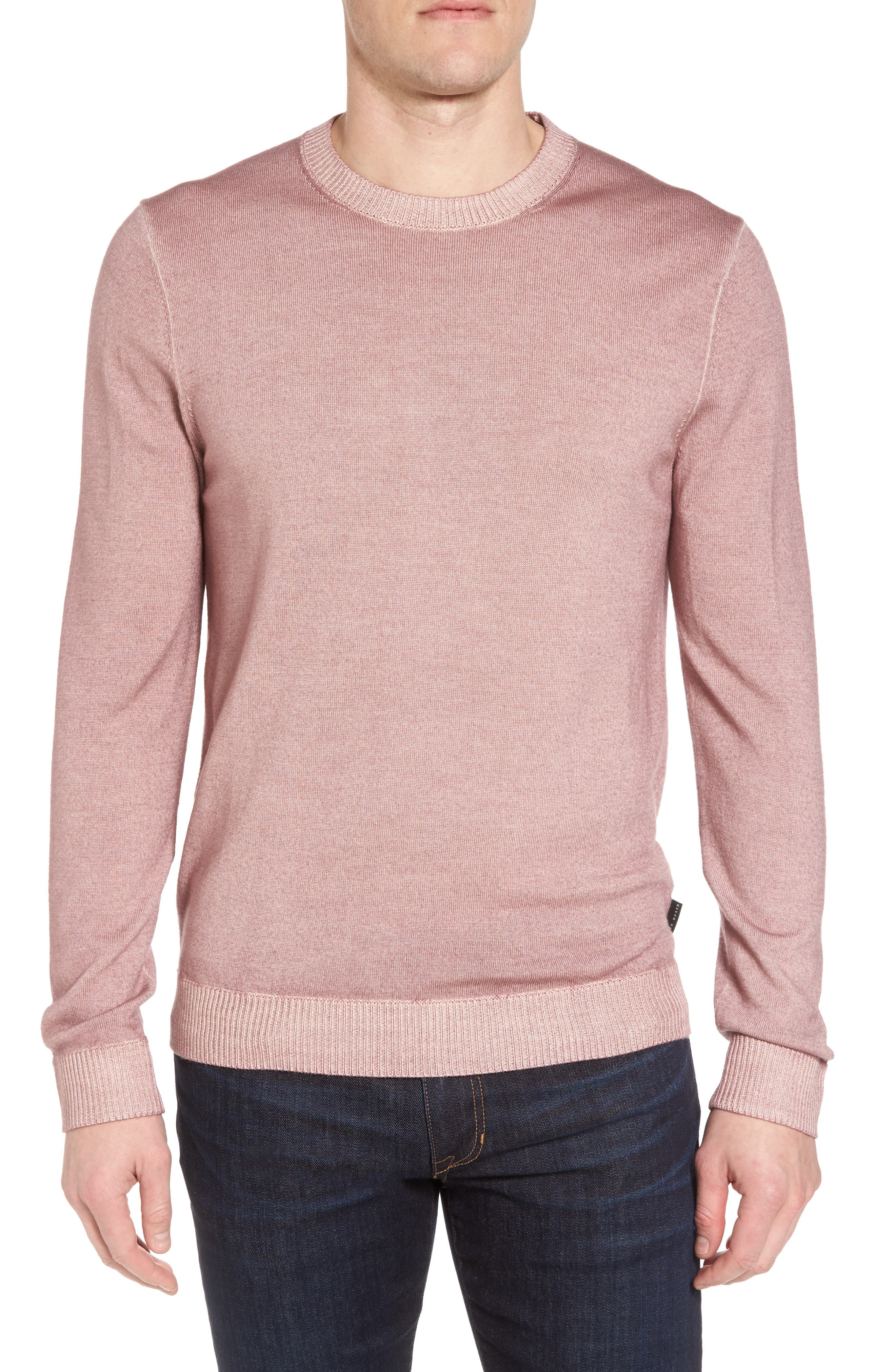 Main Image - Ted Baker London Lucky Trim Fit Wool Sweater