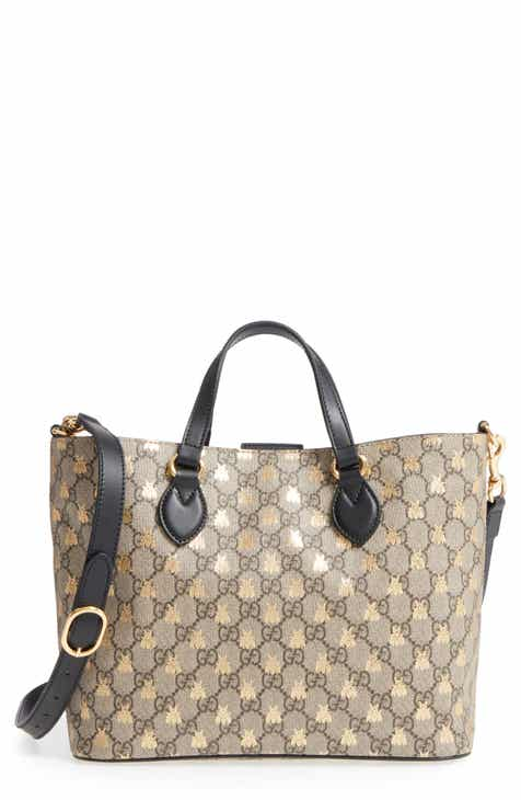 7b2a96879513 Gucci Bee GG Supreme Small Canvas Tote