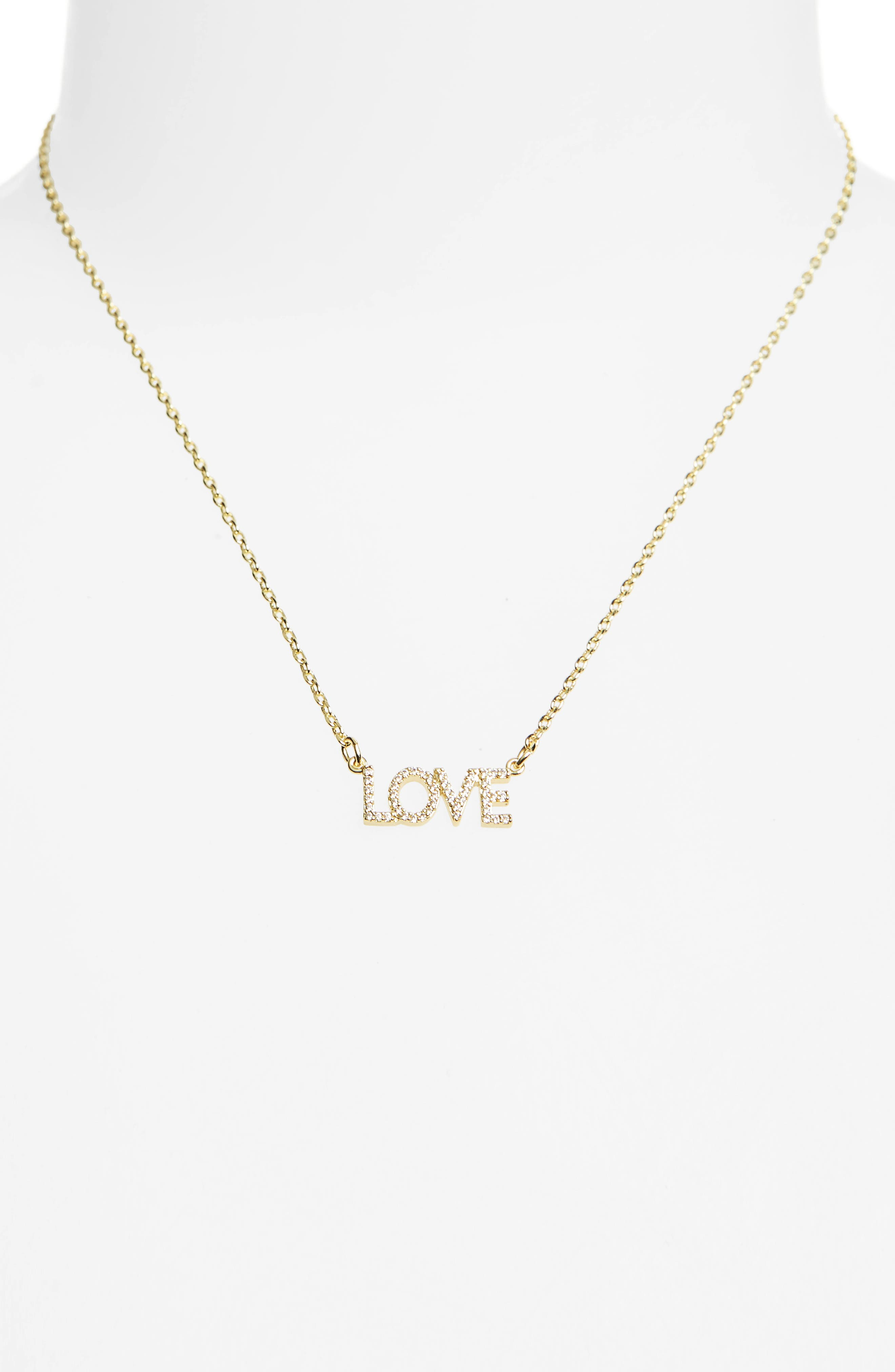Love Necklace,                             Alternate thumbnail 2, color,                             Gold