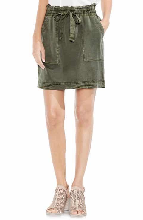 Vince Camuto Drawstring Waist Tencel® Skirt