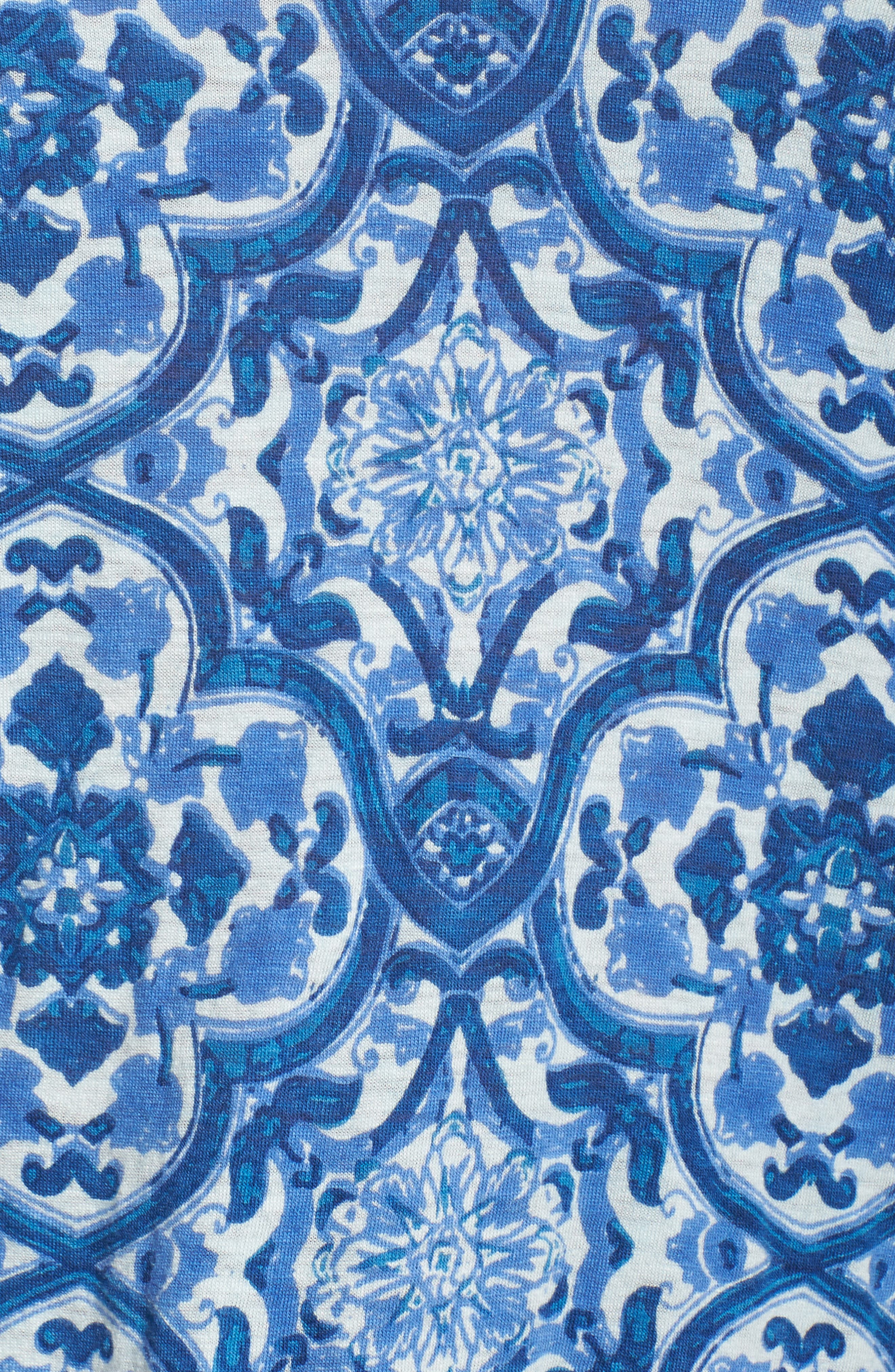 Alternate Image 5  - Lucky Brand Tile Print Top (Plus Size)