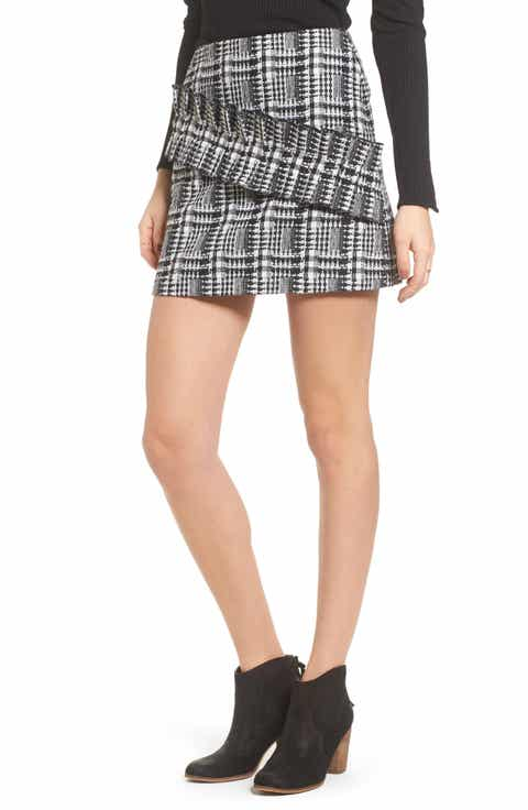 MOON RIVER Ruffle Tweed Skirt