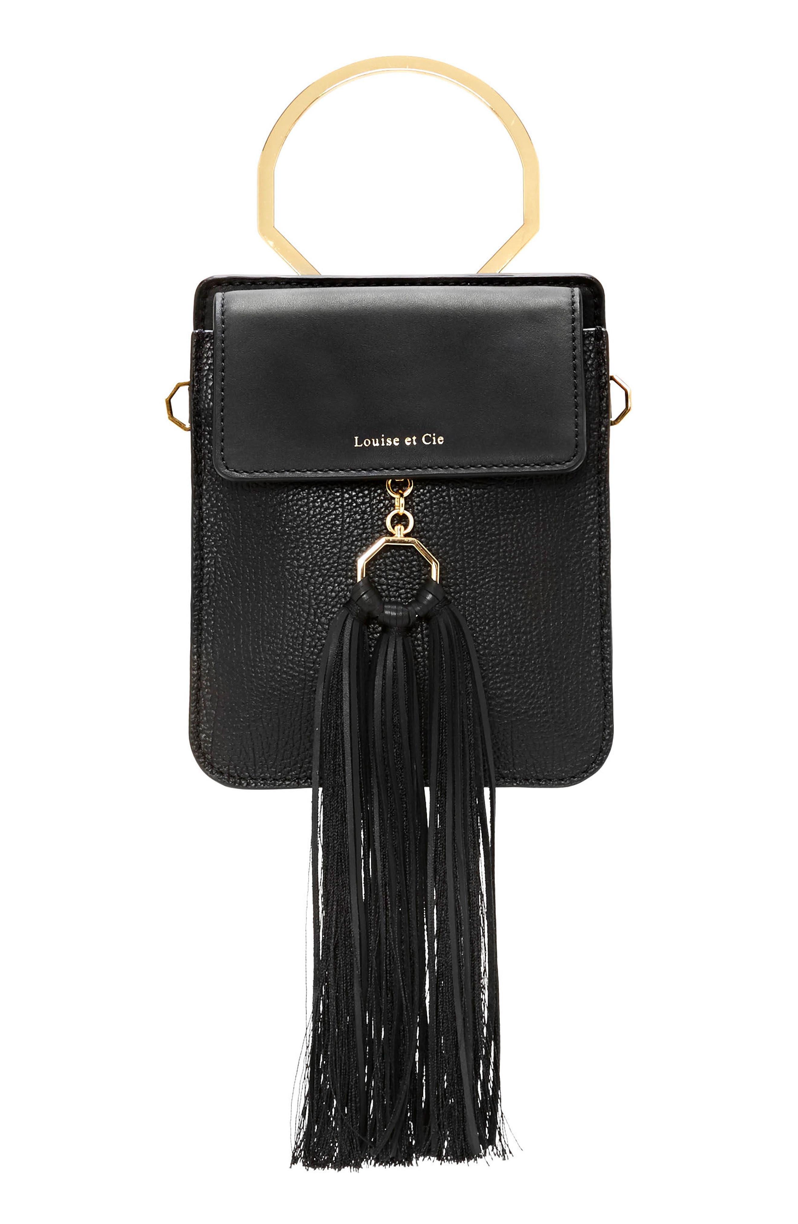 Julea Leather,                         Main,                         color, Jet Black