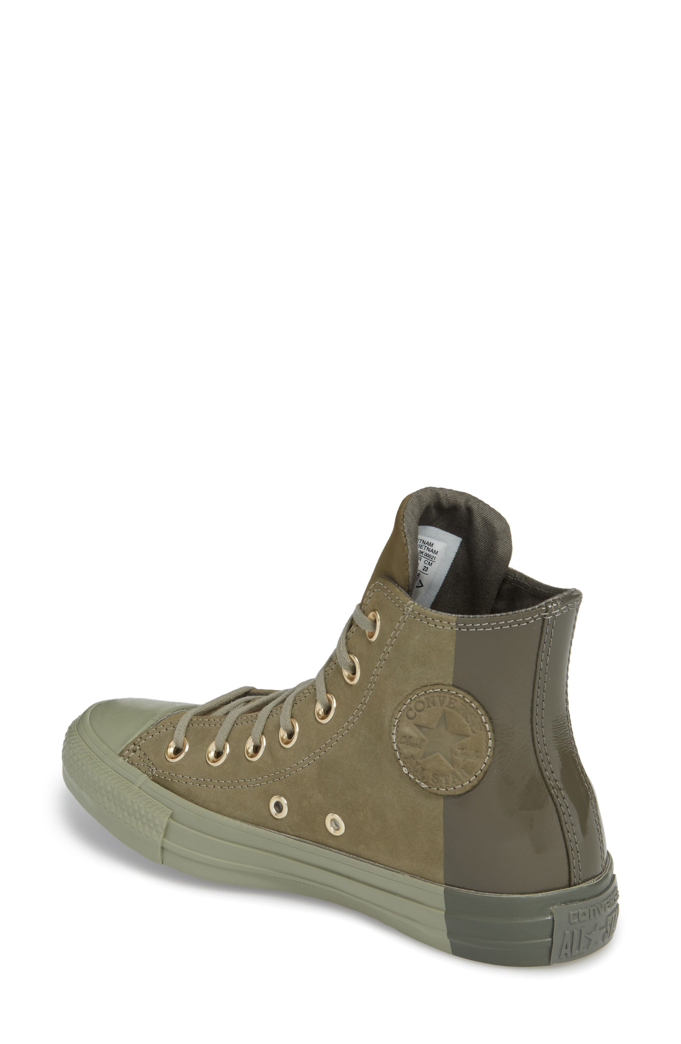 Chuck Taylor<sup>®</sup> All Star<sup>®</sup> High Top Sneaker,                             Alternate thumbnail 2, color,                             Dark Stucco