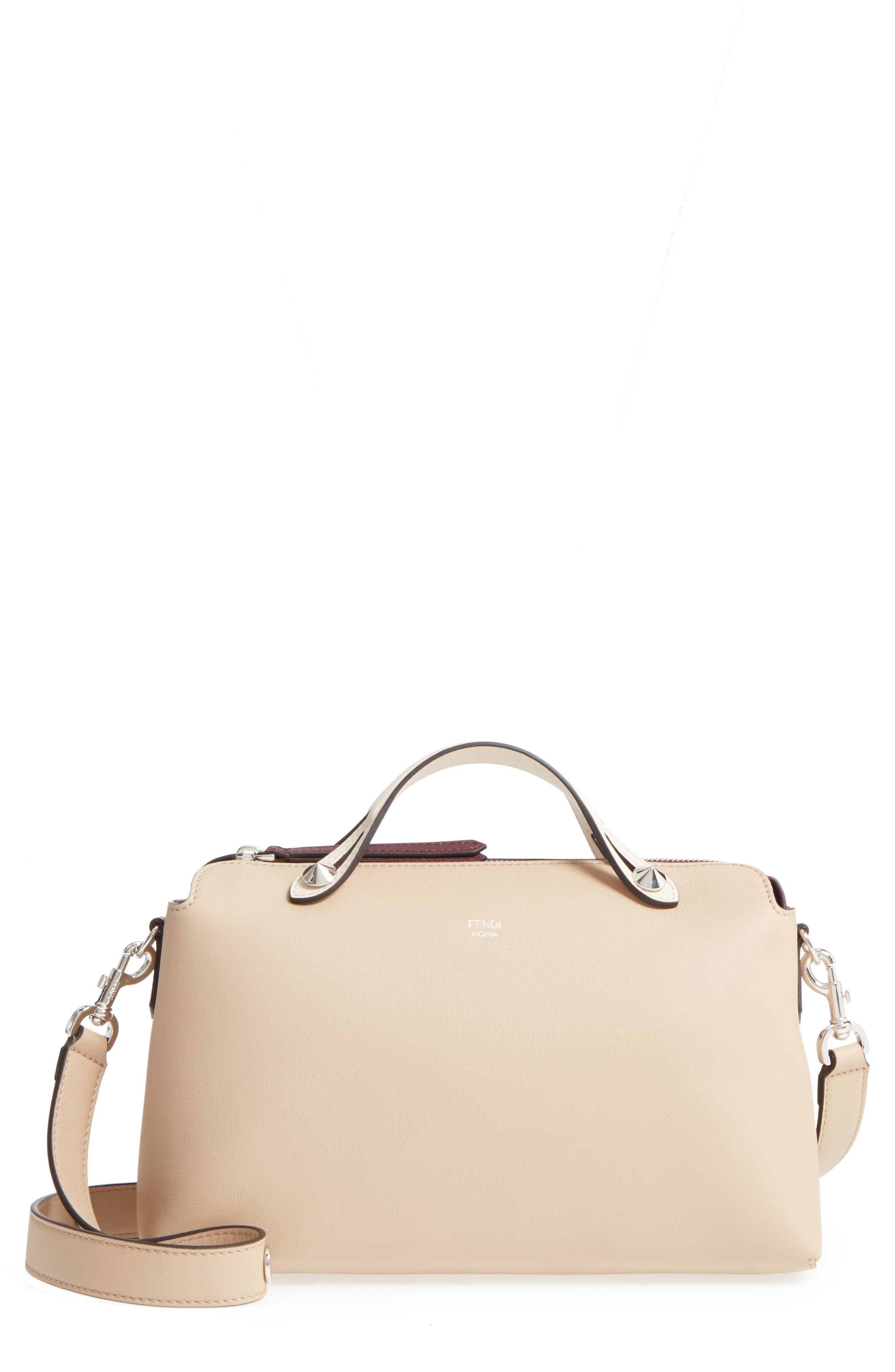 Main Image - Fendi 'Medium By the Way' Colorblock Leather Shoulder Bag