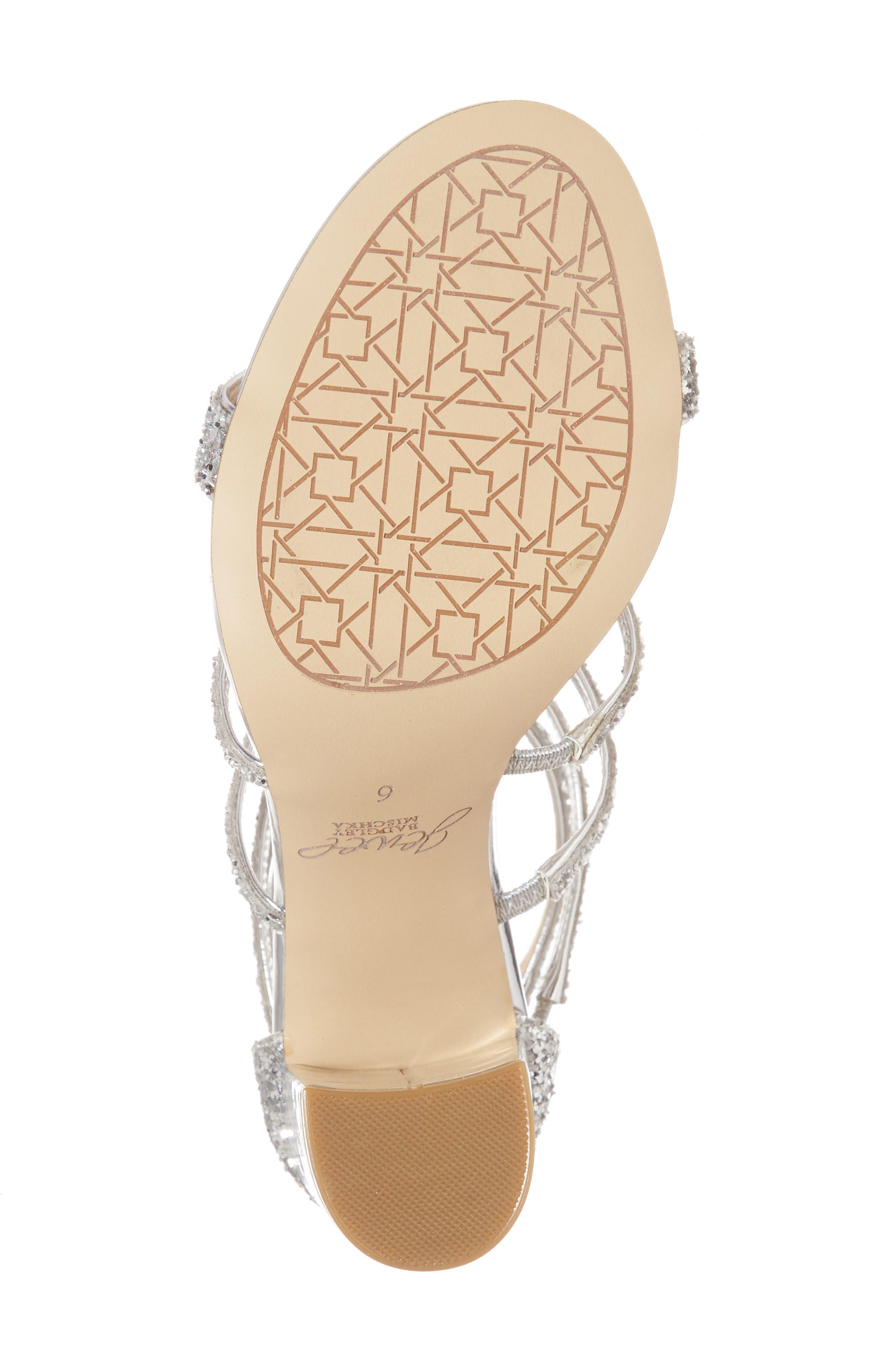 Alternate Image 6  - Jewel Badgley Mischka Tiffy Glitter Sandal (Women)