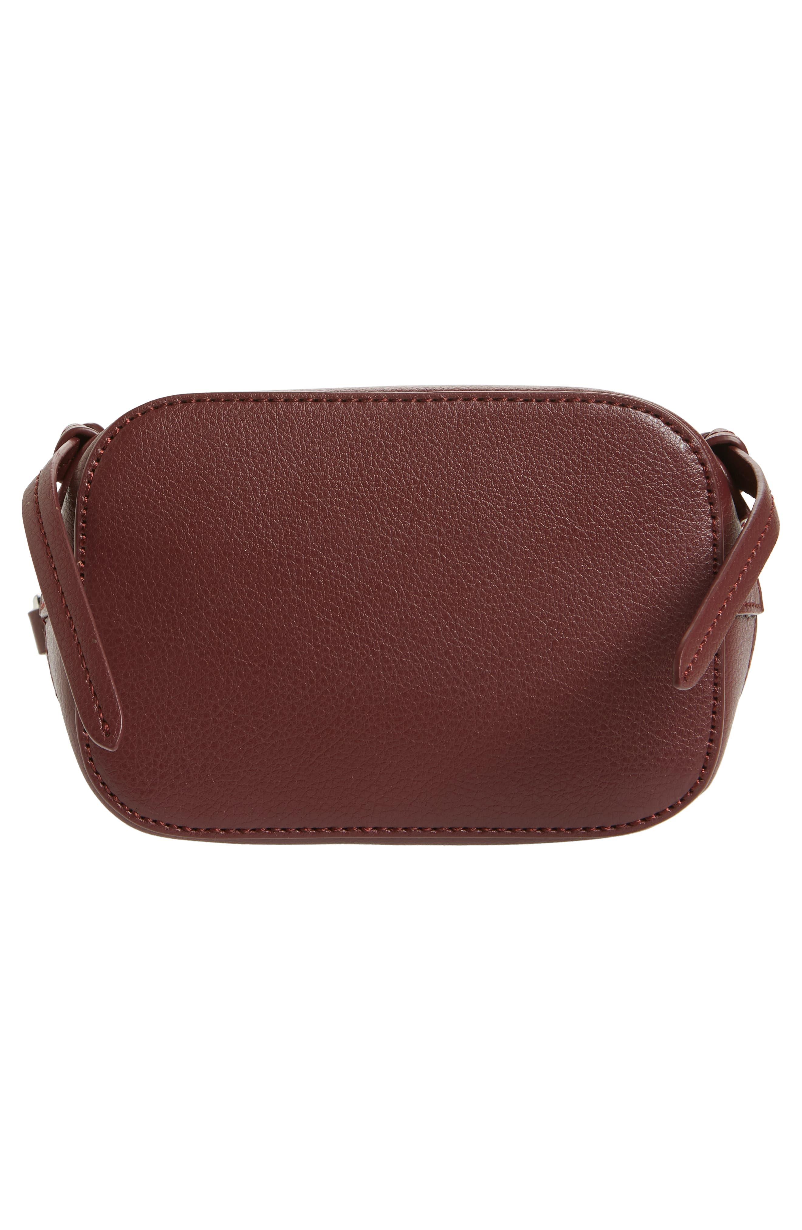 Beckett Leather Crossbody Bag,                             Alternate thumbnail 6, color,                             Wine