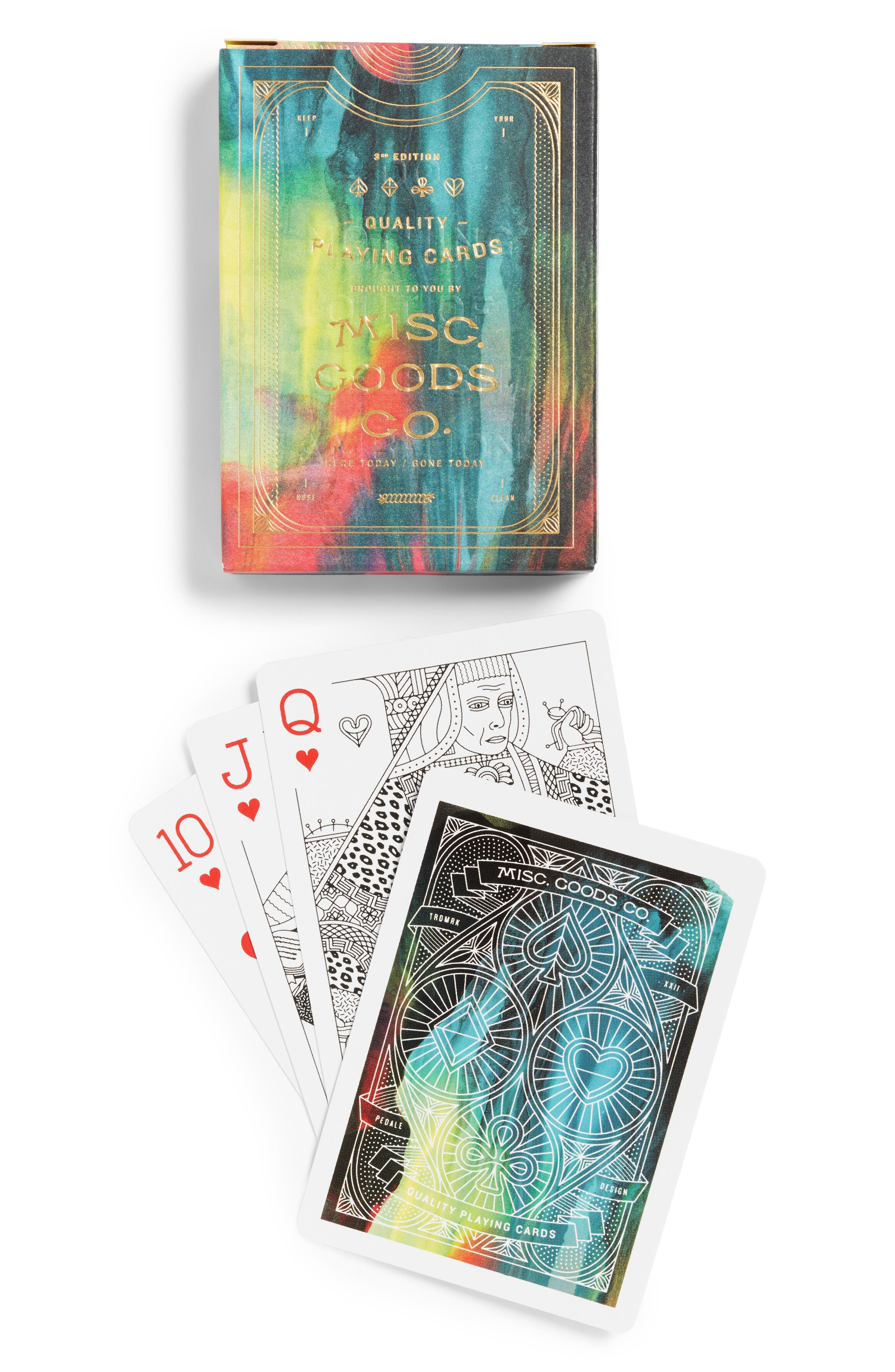 Alternate Image 1 Selected - Misc. Goods Co. Cina Playing Cards