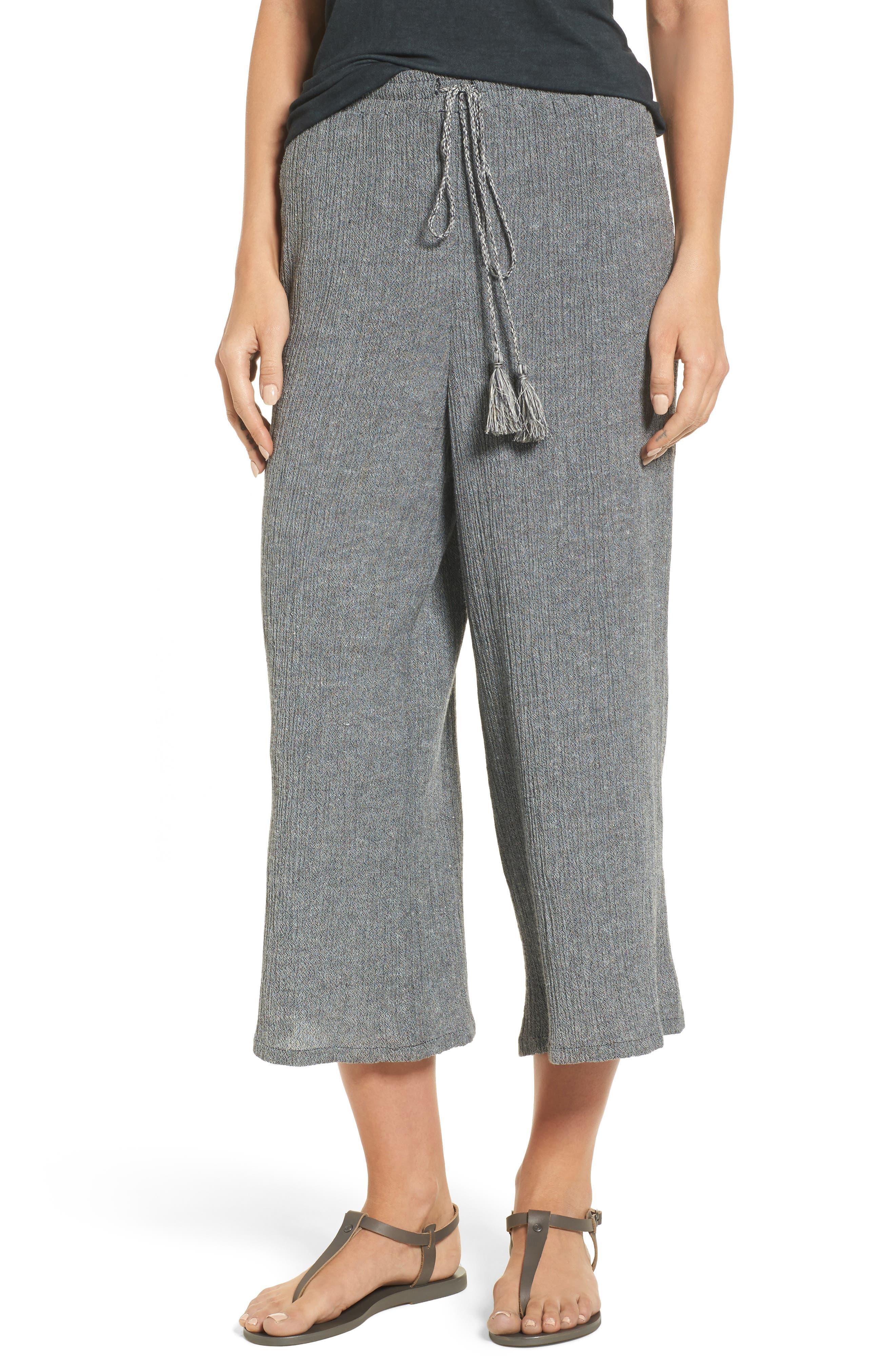 BP. Crinkled Wide Leg Crop Pants