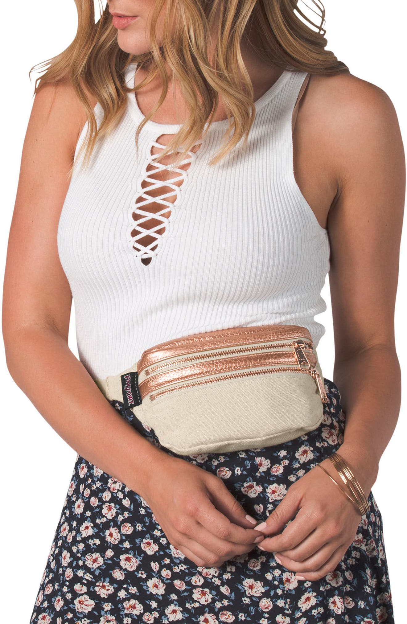 Hippyland Fanny Pack,                             Alternate thumbnail 2, color,                             Rose Gold