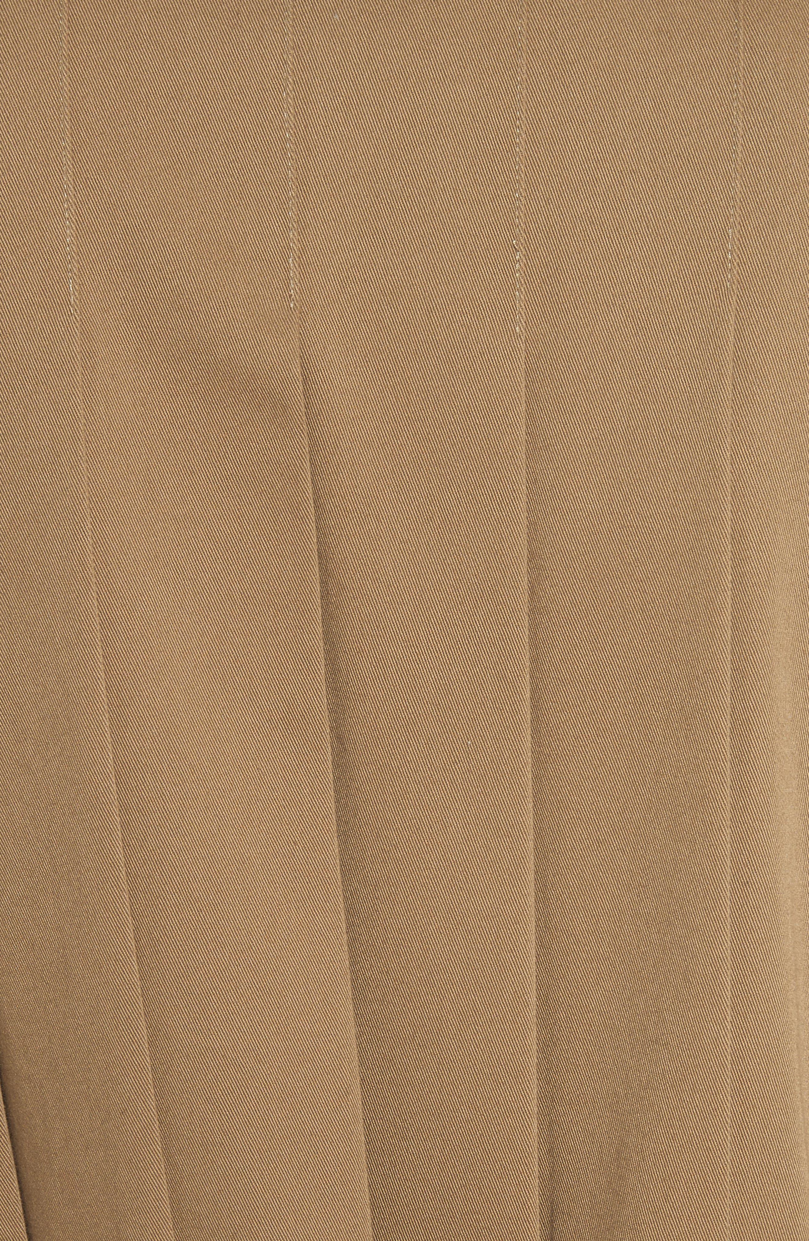 Pleat Back Trench Coat,                             Alternate thumbnail 6, color,                             Camel