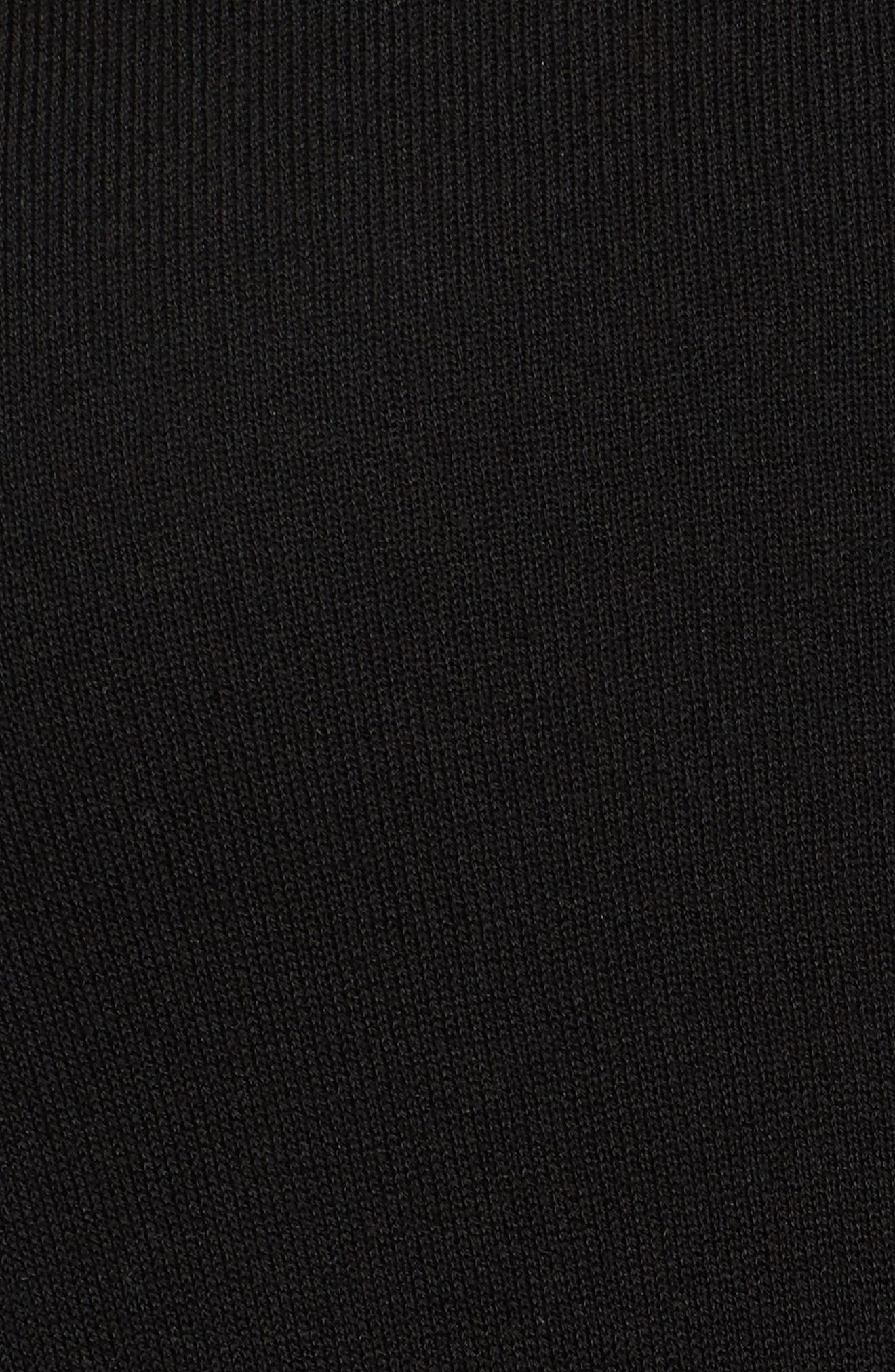 Tencel<sup>®</sup> Lyocell Lyocell Knit Sweater,                             Alternate thumbnail 5, color,                             Black
