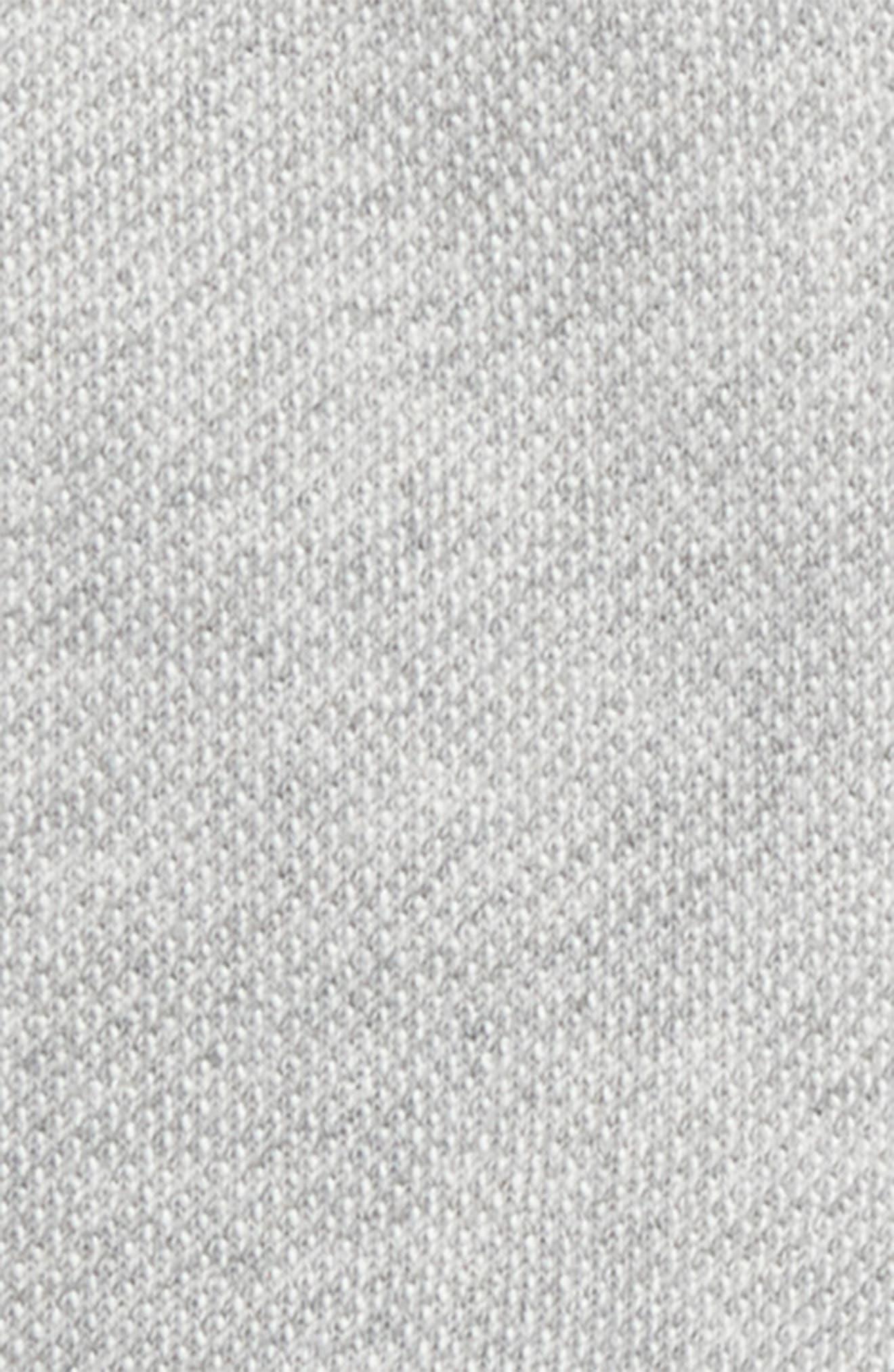 Piqué Organic Cotton Ruffle Hem Zip Hoodie,                             Alternate thumbnail 2, color,                             Heather Grey