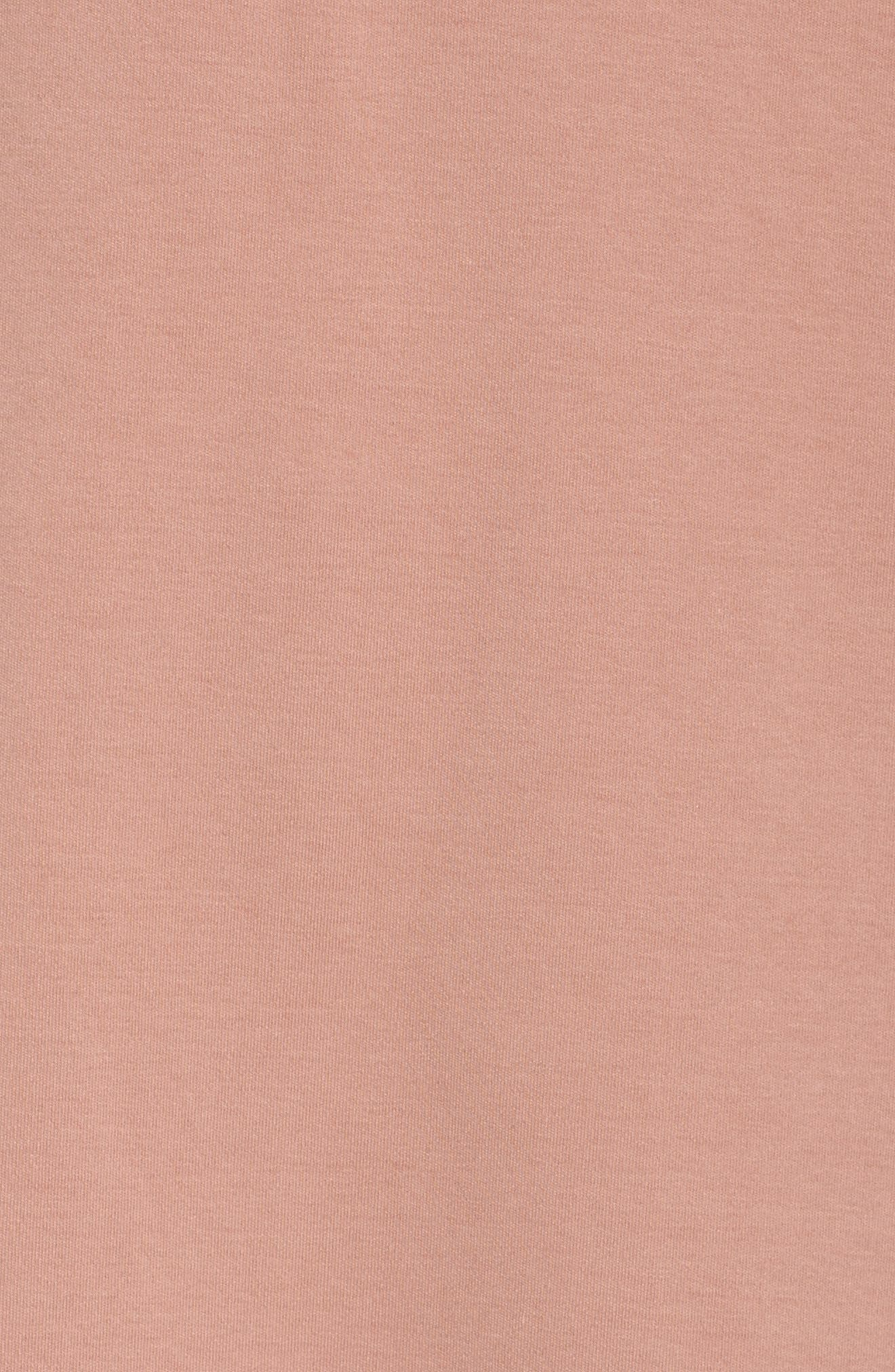 Hoodie Tunic,                             Alternate thumbnail 5, color,                             Dusty Rose
