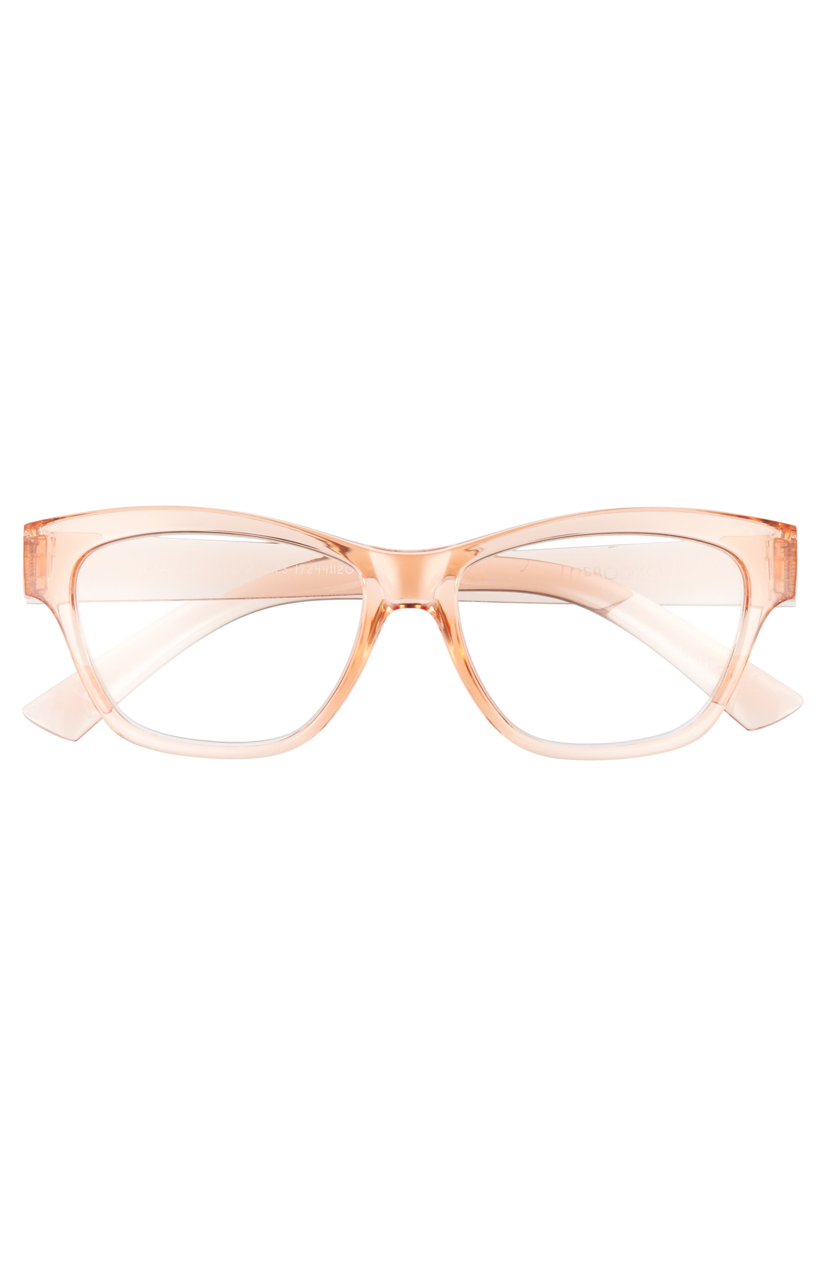 A Tail Of Two Kitties 53mm Reading Glasses,                             Alternate thumbnail 3, color,                             Sherbert