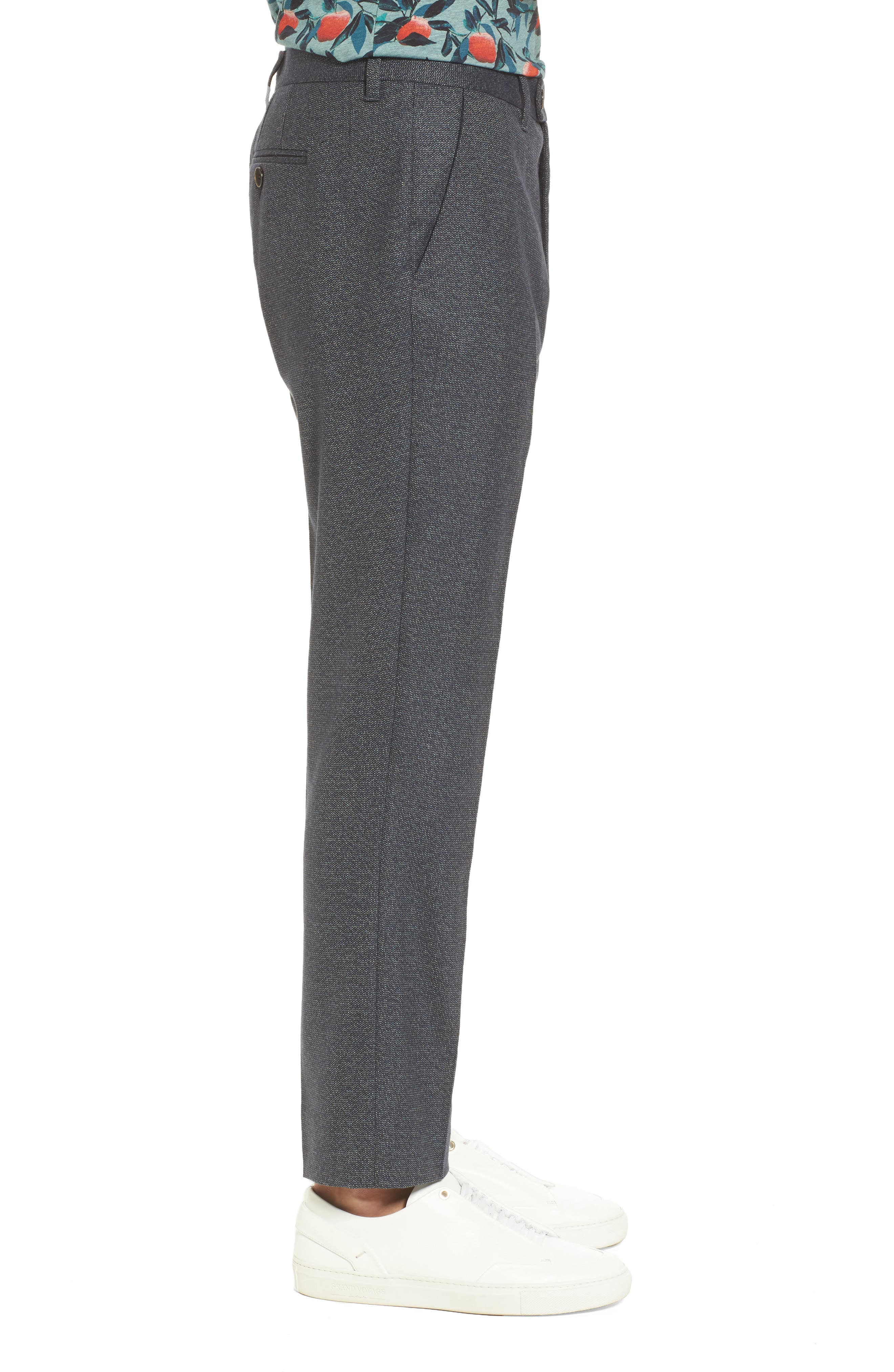 Beektro Trim Fit Trousers,                             Alternate thumbnail 3, color,                             Navy