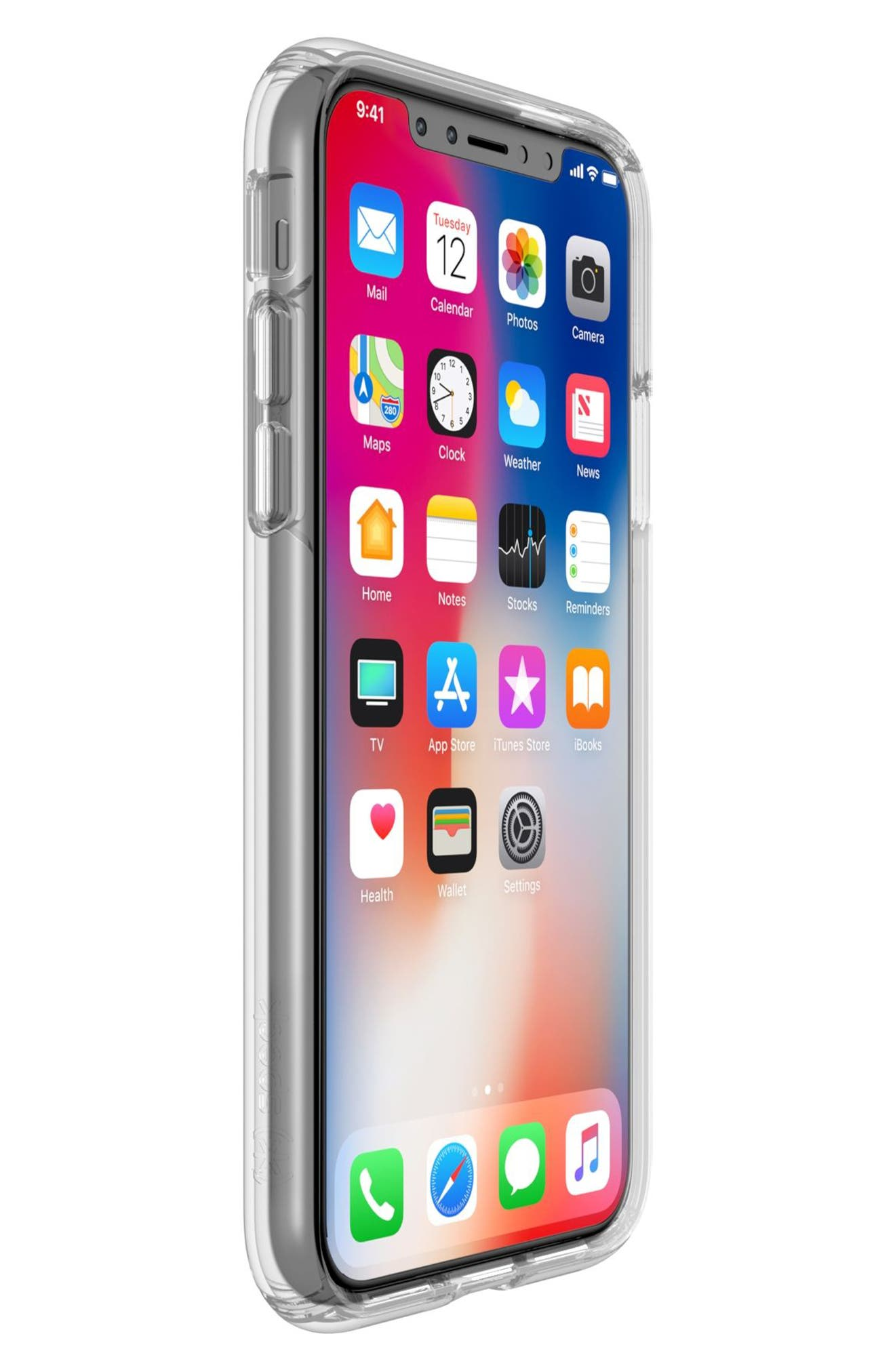Transparent iPhone X Case,                             Alternate thumbnail 7, color,                             Clear/ Clear