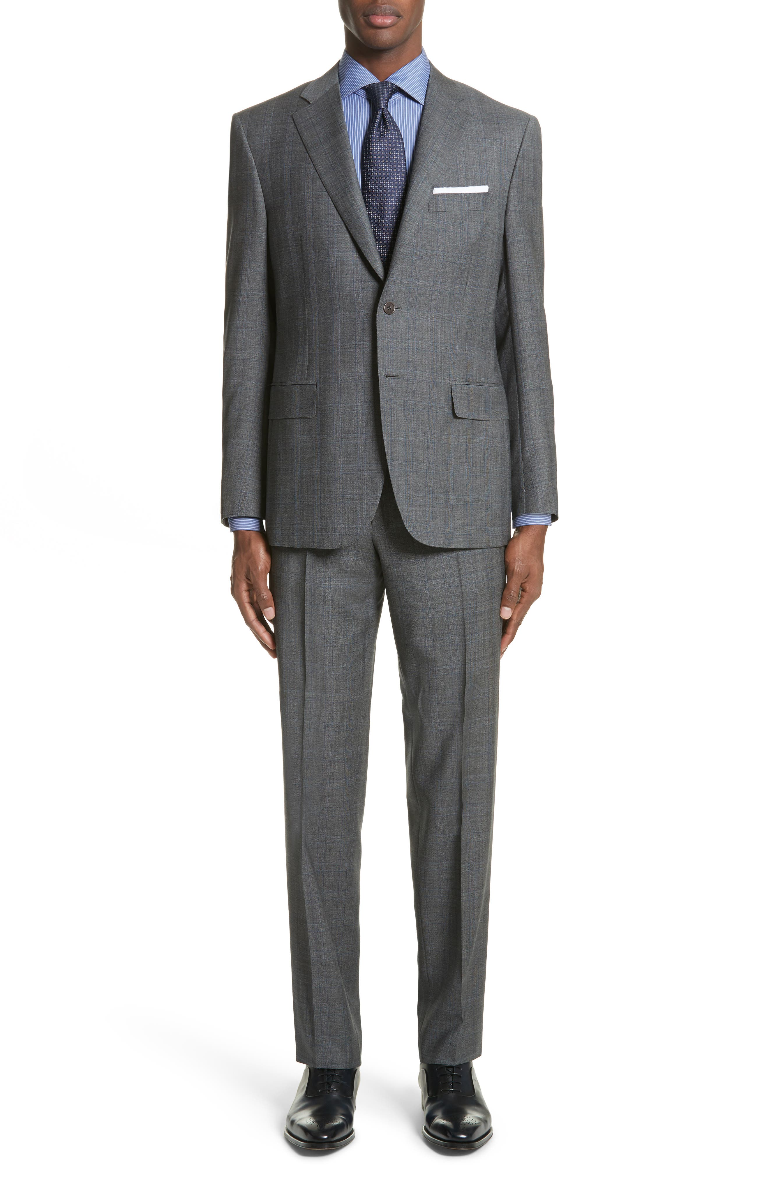 Canali Classic Fit Solid Wool Suit