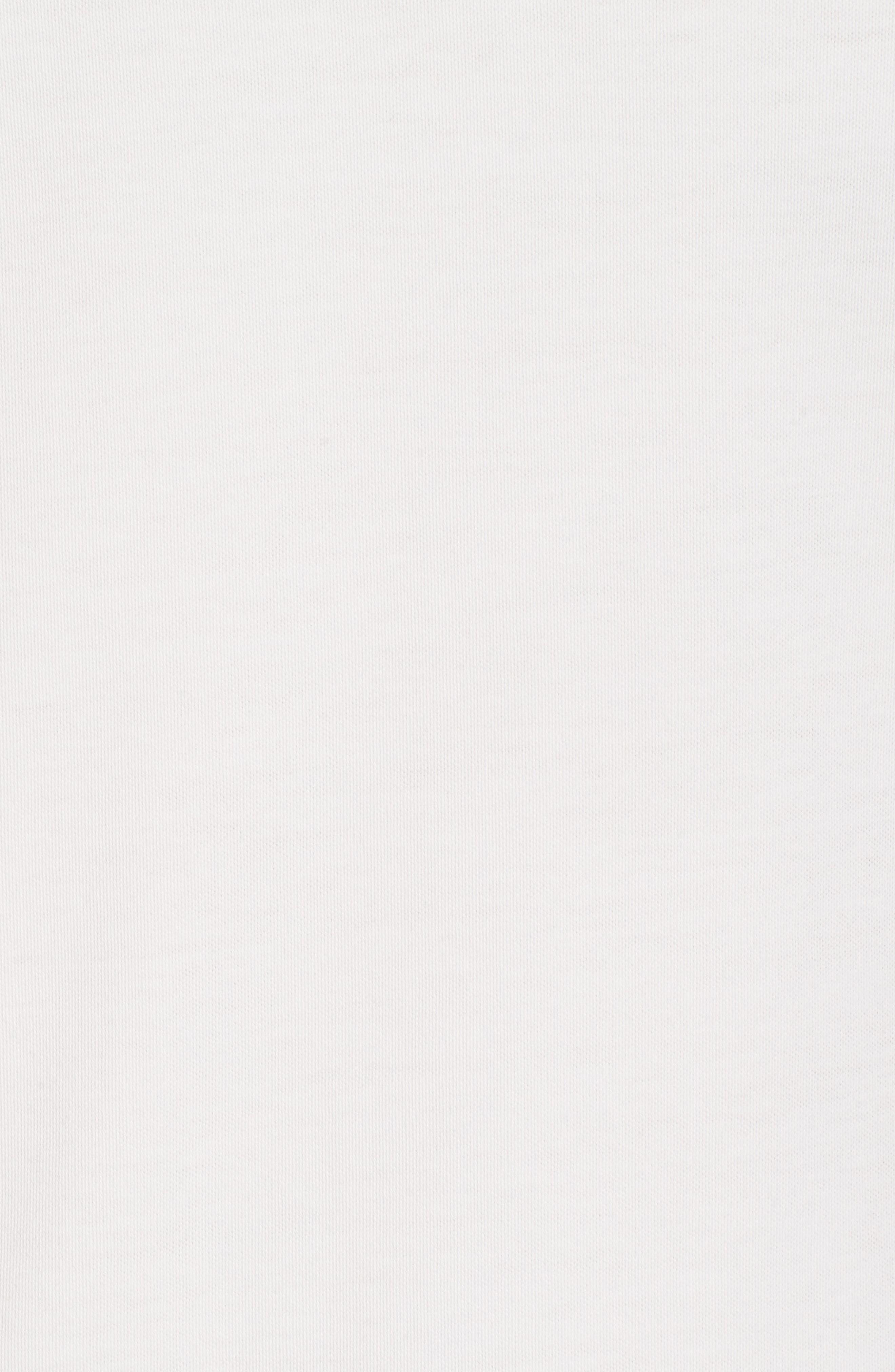 Pug Trim Fit Stripe Polo,                             Alternate thumbnail 5, color,                             White