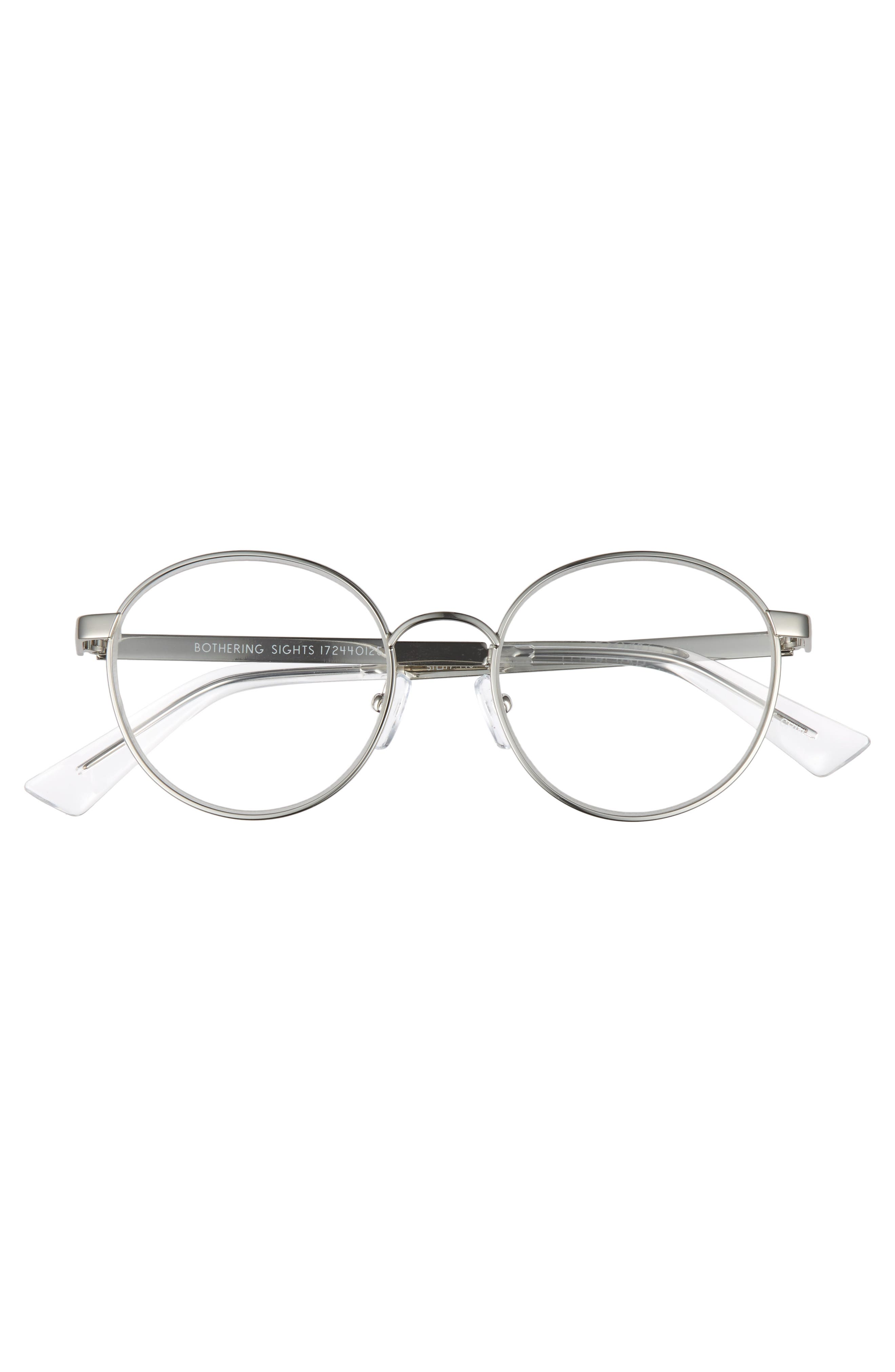 Bothering Sights 51mm Reading Glasses,                             Alternate thumbnail 3, color,                             Silver/ Cellophane