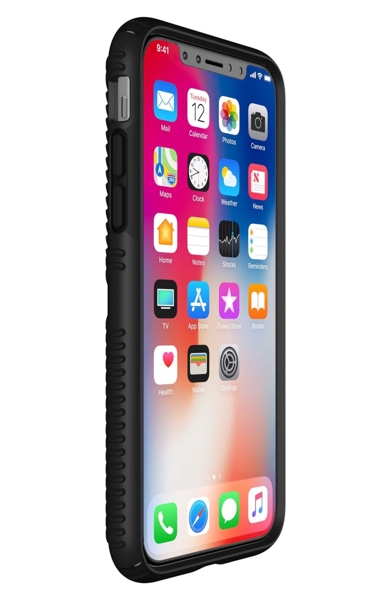 iPhone X Case,                             Alternate thumbnail 5, color,                             Black/ Black