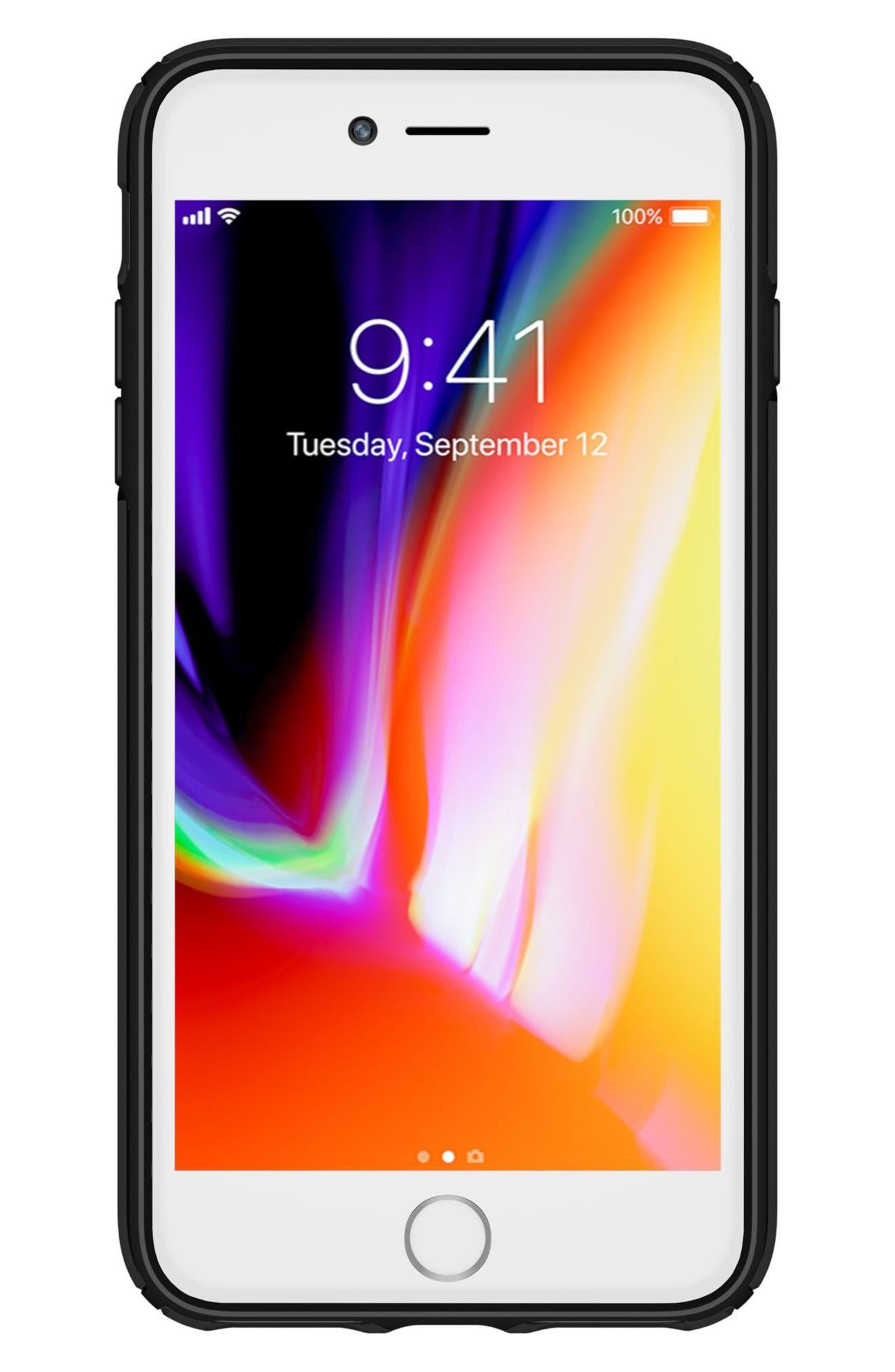 iPhone 6/6s/7/8 Plus Case,                             Alternate thumbnail 8, color,                             Clear/ Black