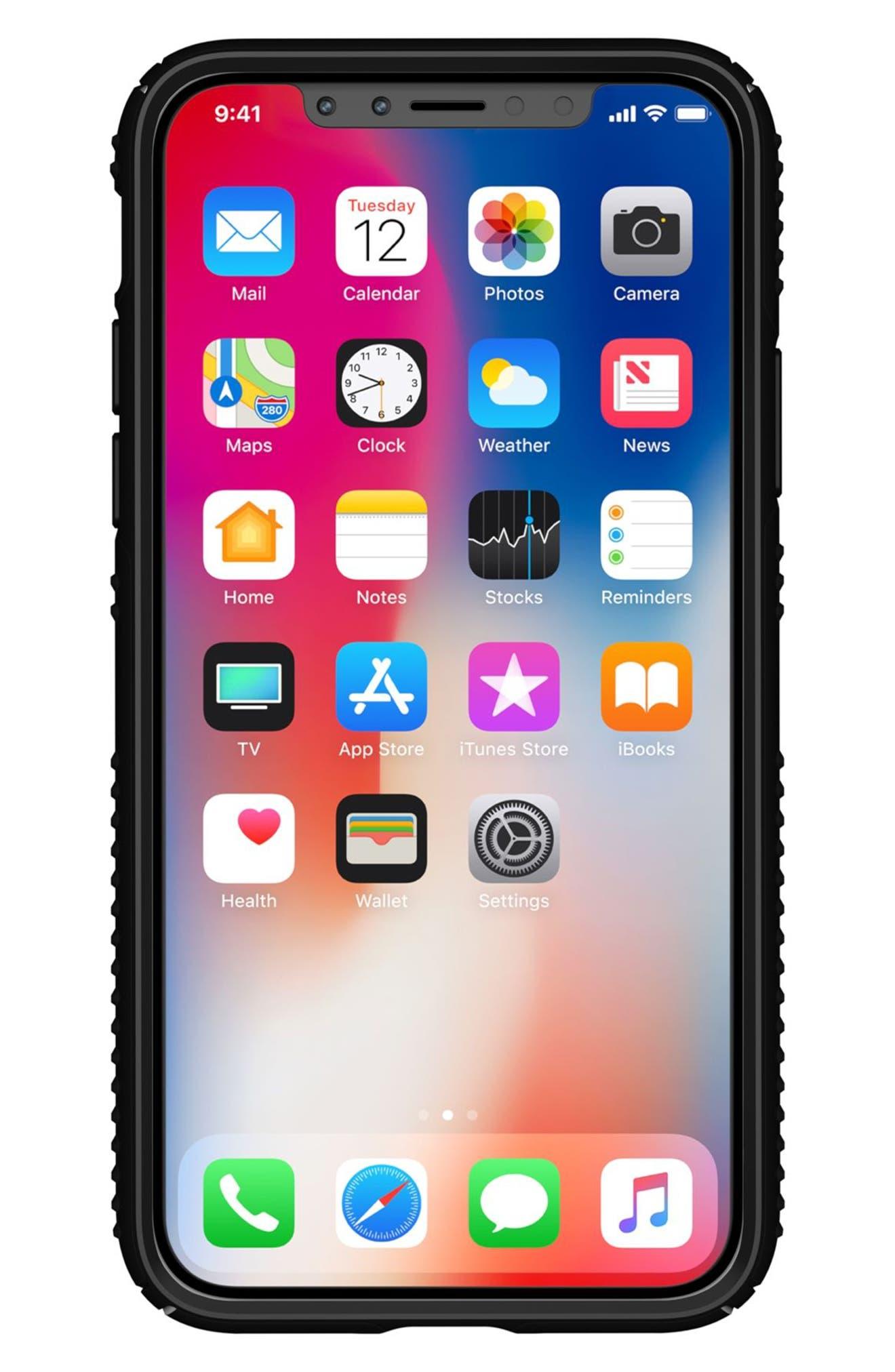 iPhone X Case,                             Alternate thumbnail 7, color,                             Black/ Black