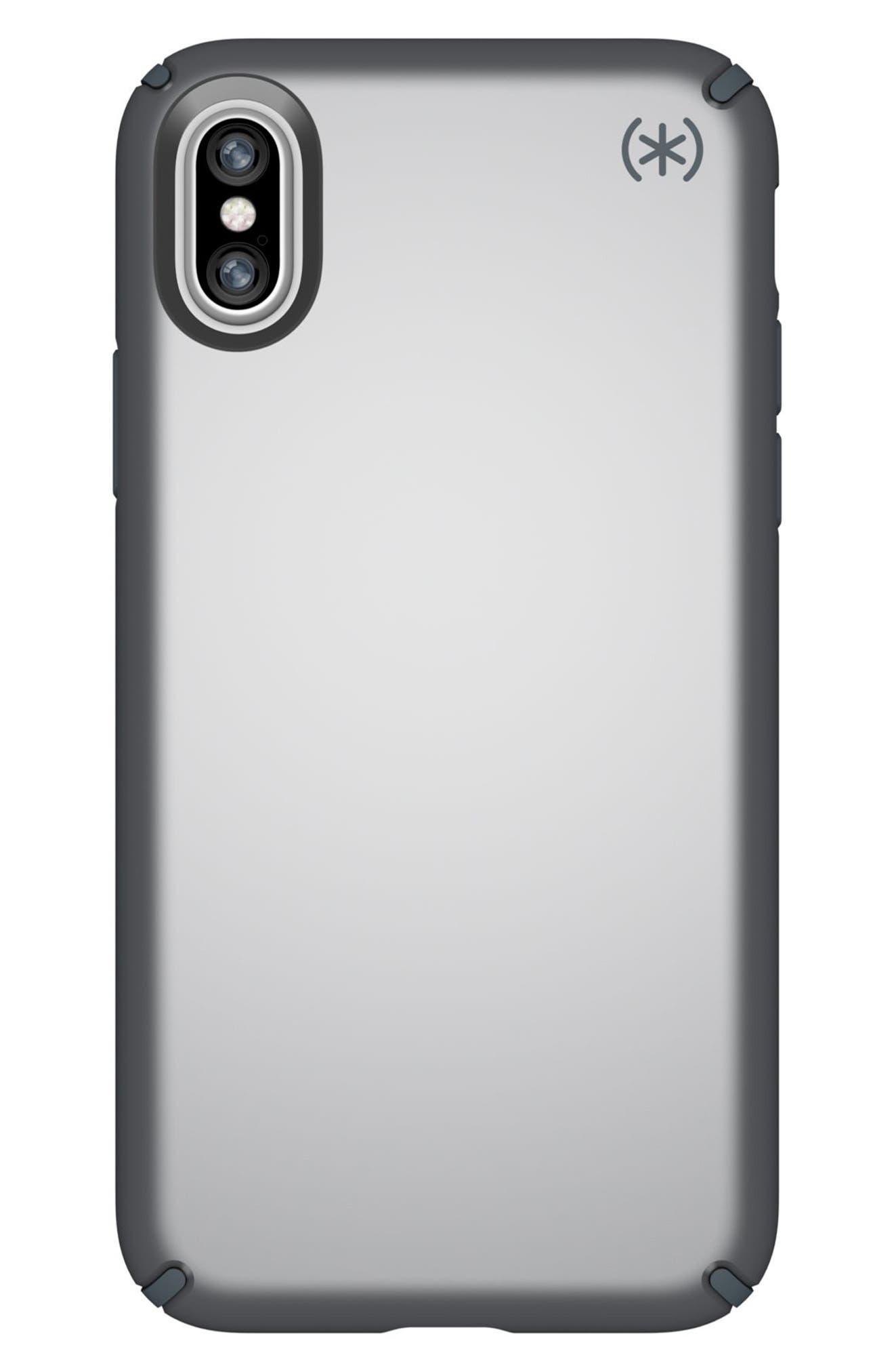 iPhone X Case,                         Main,                         color, Tungsten Grey Metallic/ Grey
