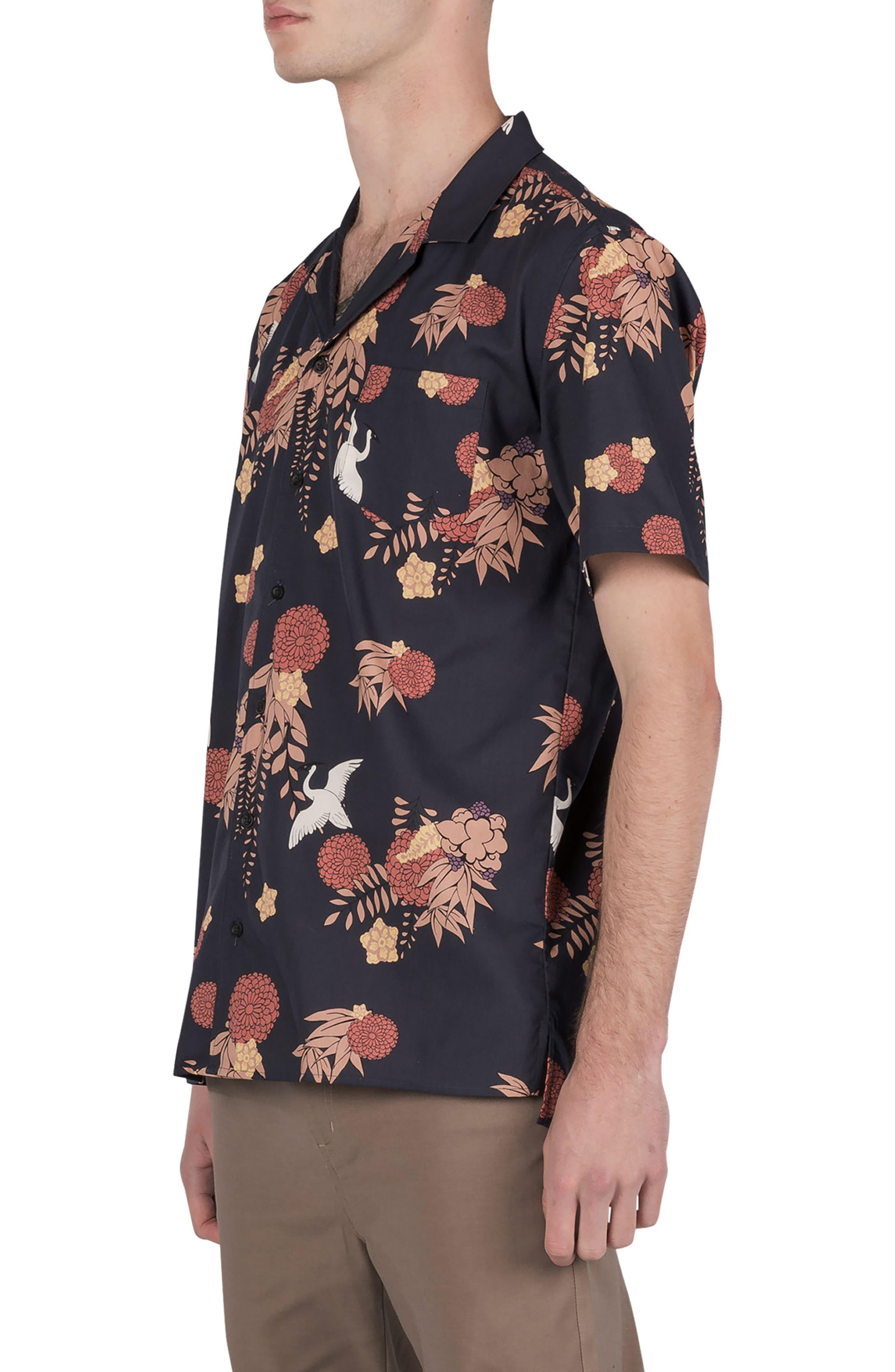 Crane Short Sleeve Shirt,                             Alternate thumbnail 4, color,                             Navy