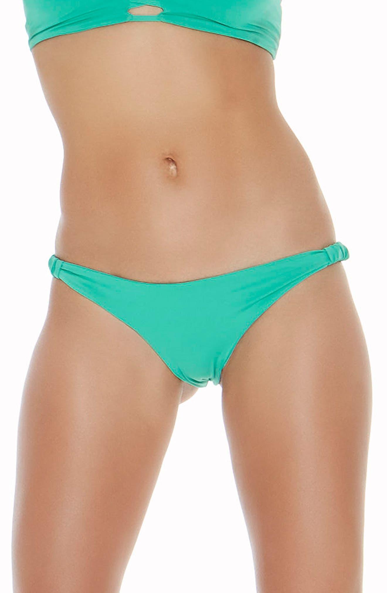 Sundrop Slider Bikini Bottoms,                             Main thumbnail 1, color,                             Spearmint