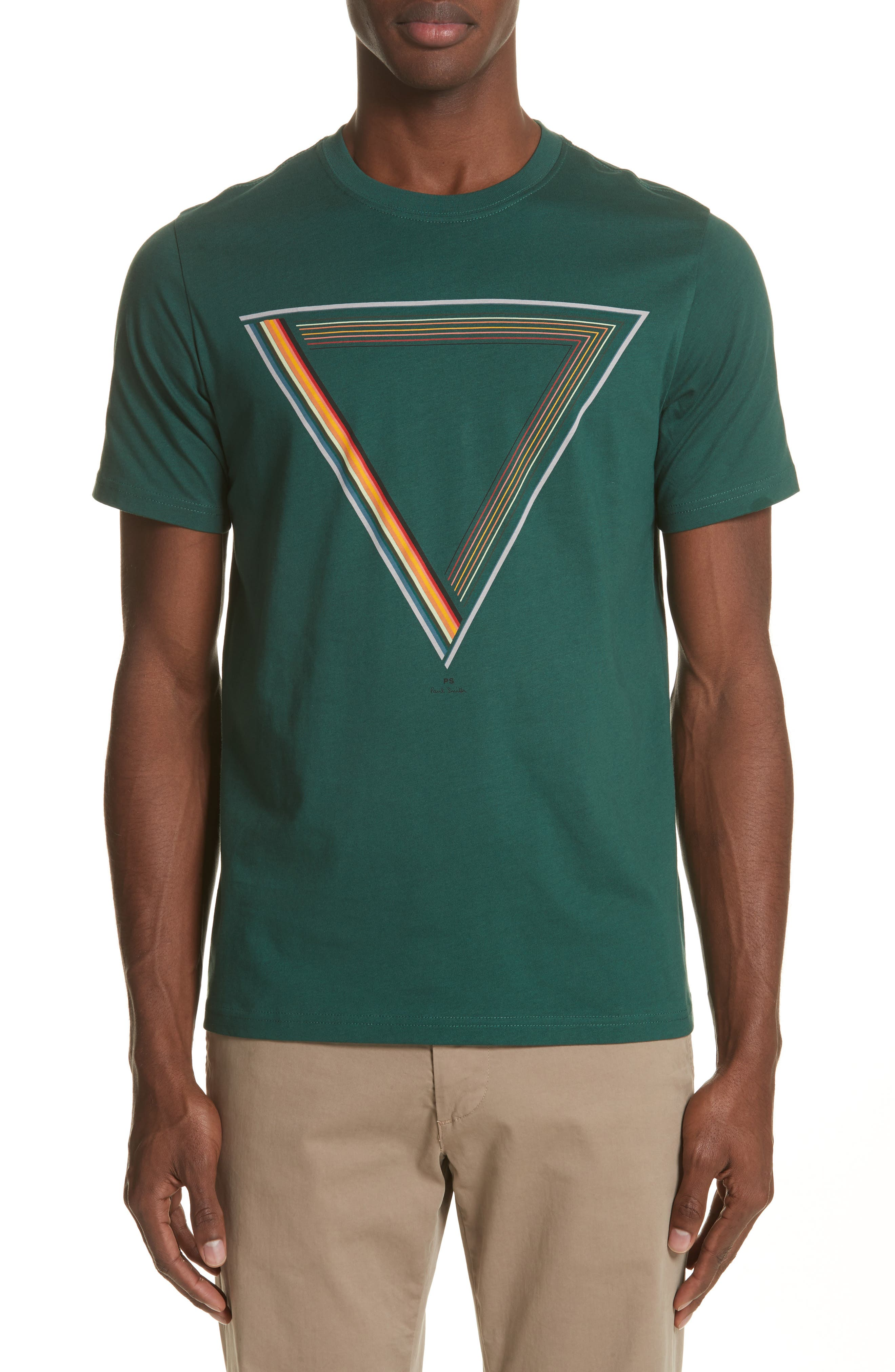 Triangle Graphic T-Shirt,                         Main,                         color, Green