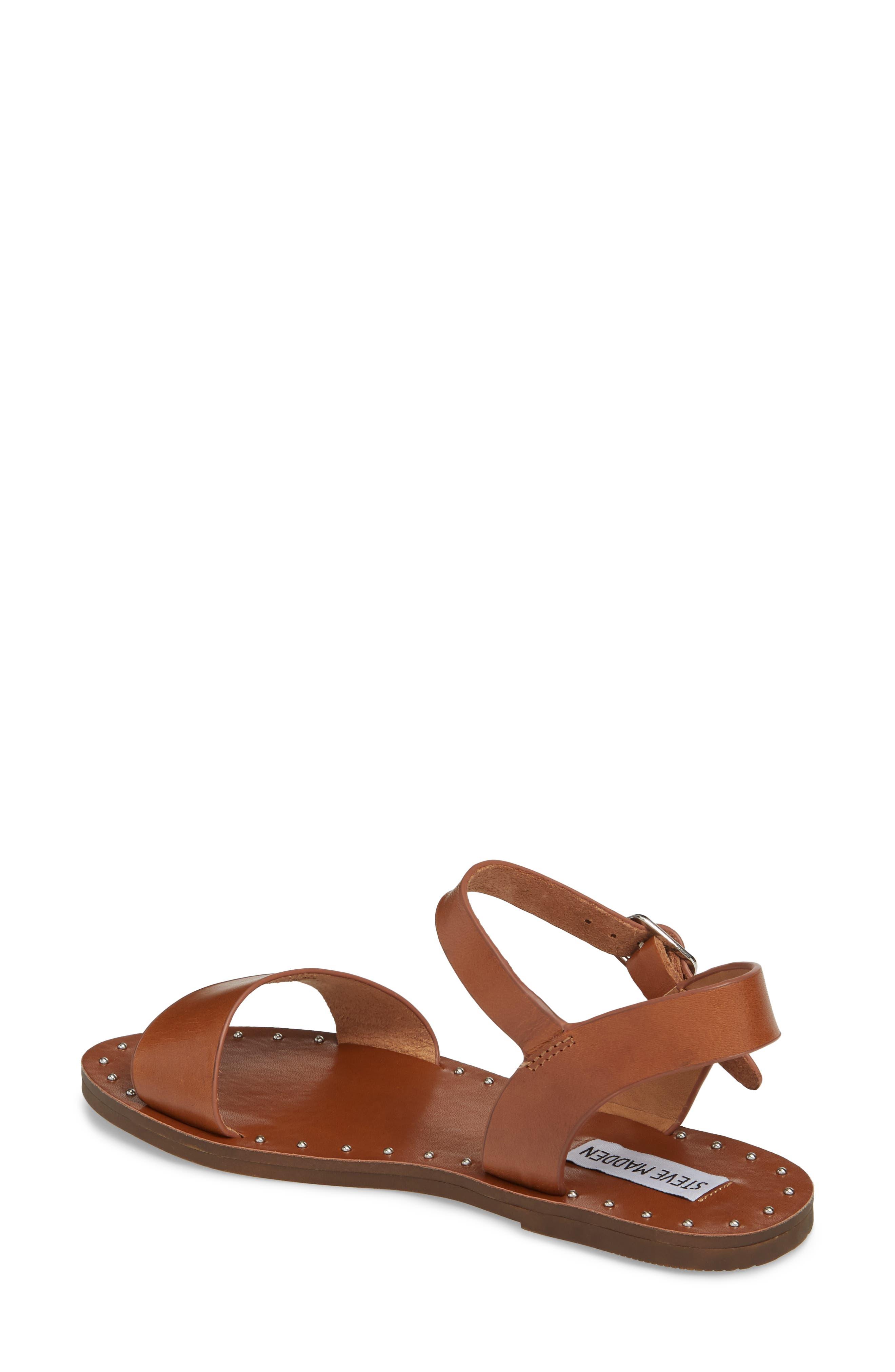 Dupe Sandal,                             Alternate thumbnail 2, color,                             Cognac Leather