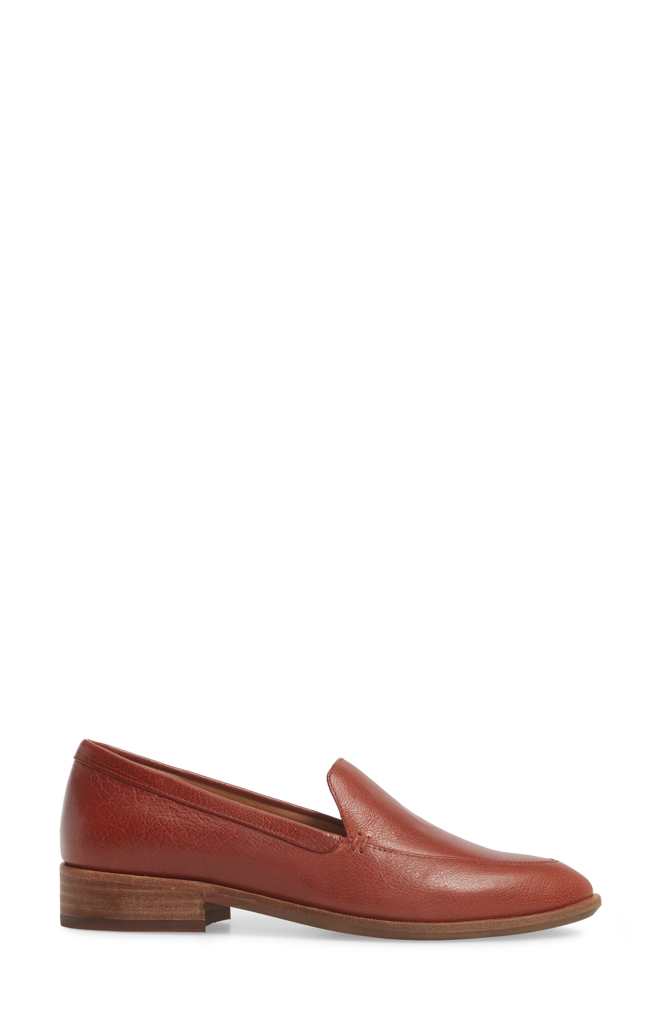 Frances Loafer,                             Alternate thumbnail 3, color,                             Burnished Mahogany Leather