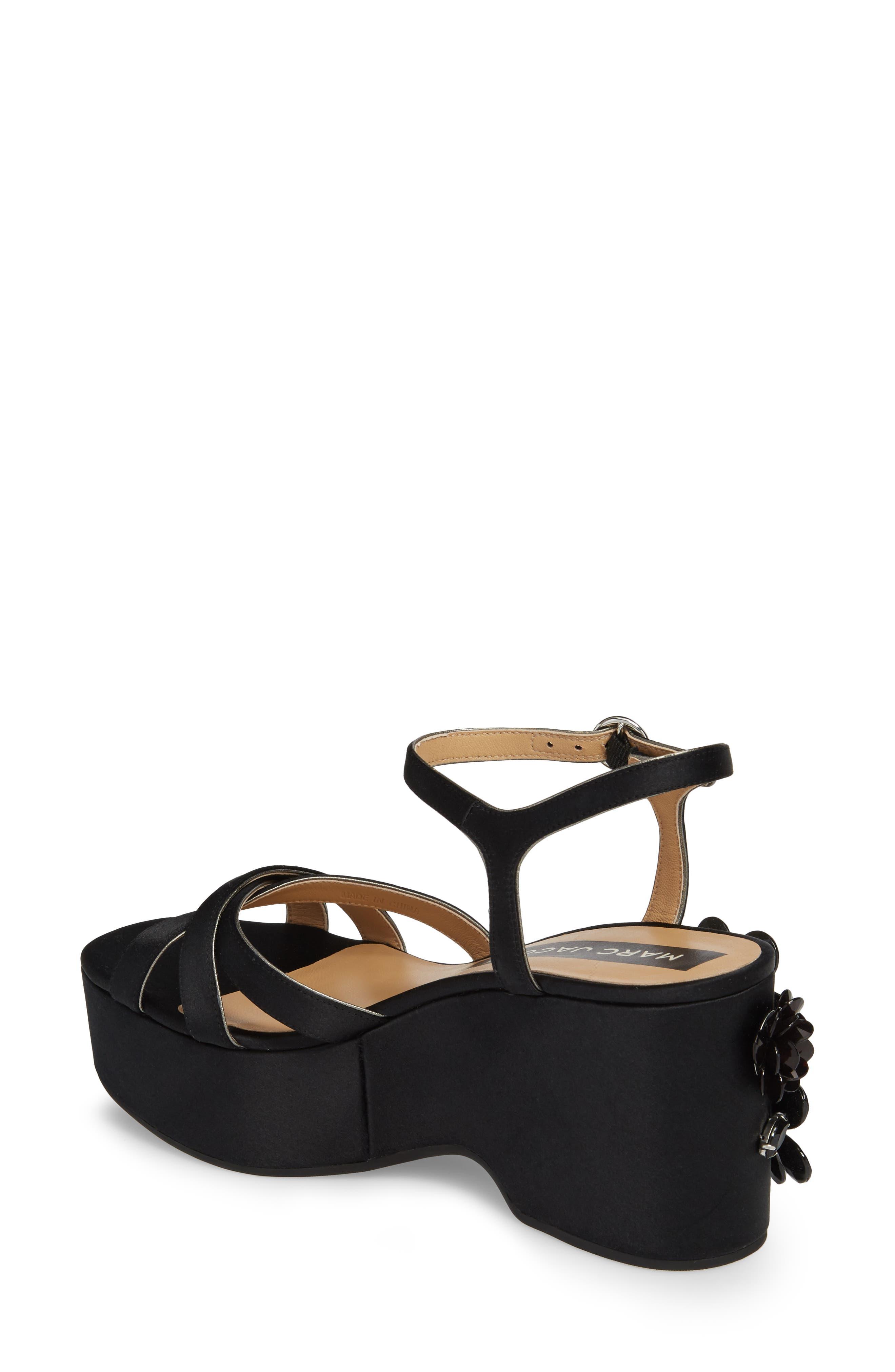 Callie Embellished Platform Sandal,                             Alternate thumbnail 2, color,                             Black