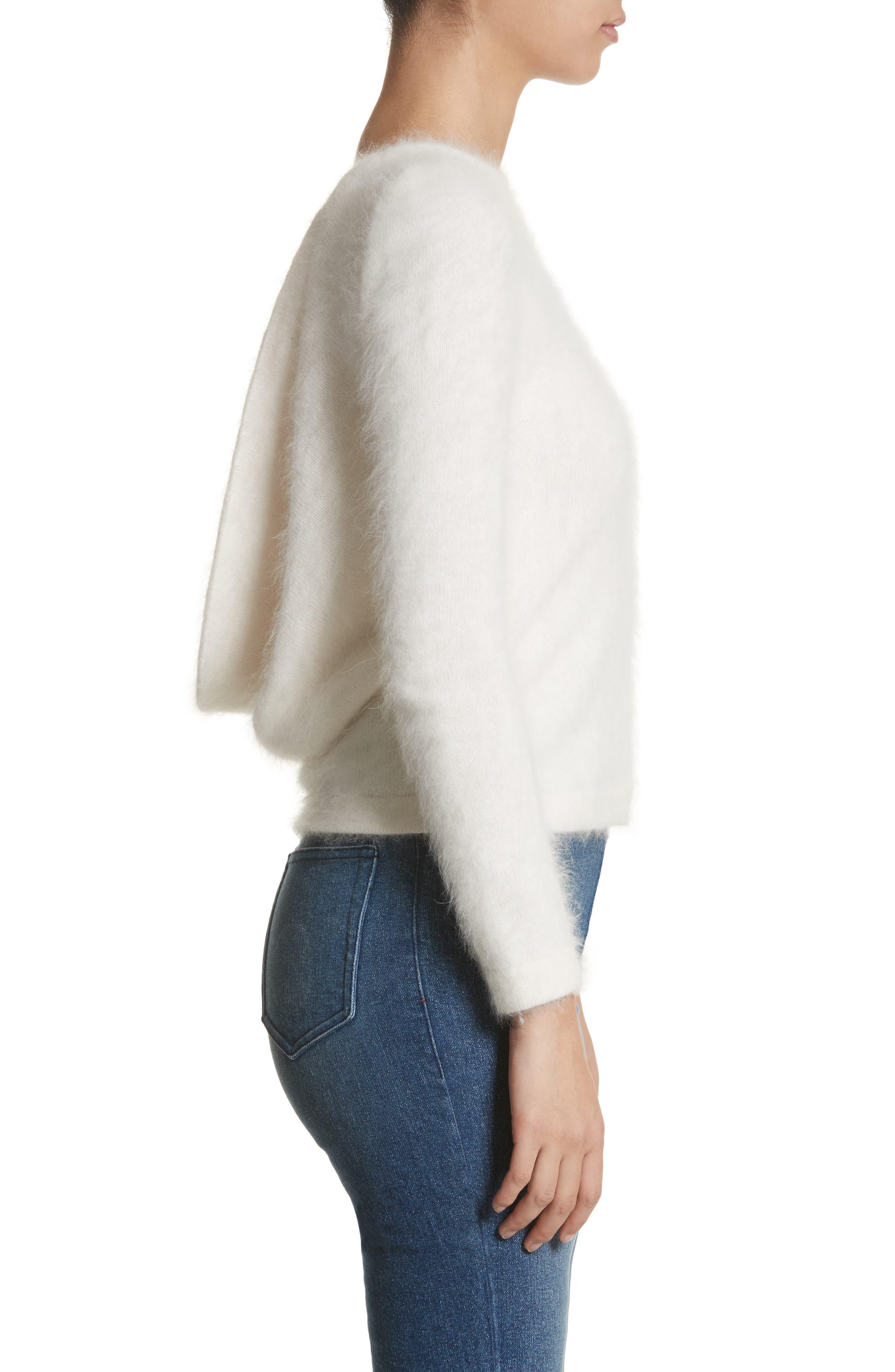 Alternate Image 3  - Brandon Maxwell Drape Back Angora Blend Sweater