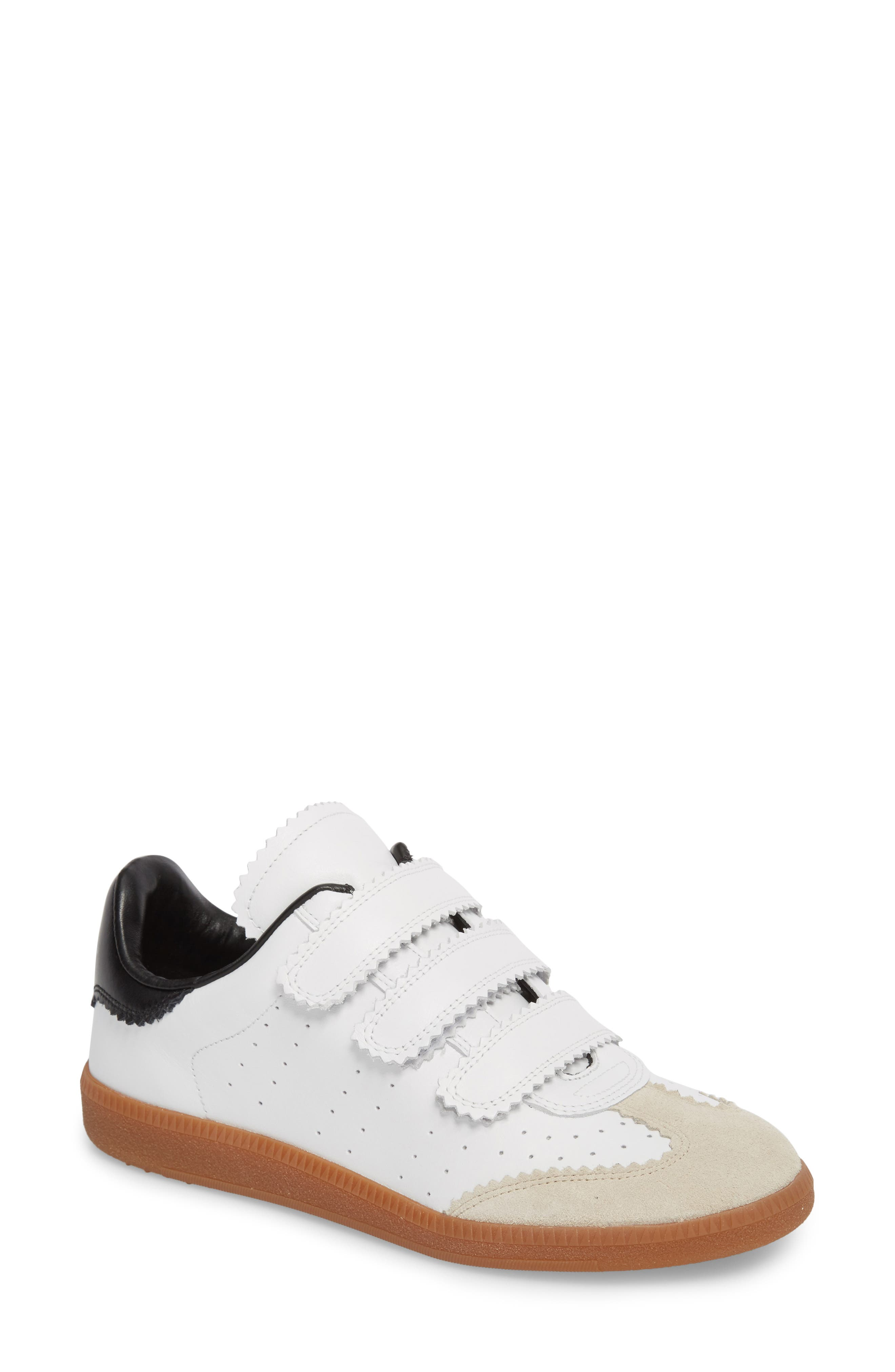 Isabel Marant Beth Low Top Sneaker,                             Main thumbnail 1, color,                             White