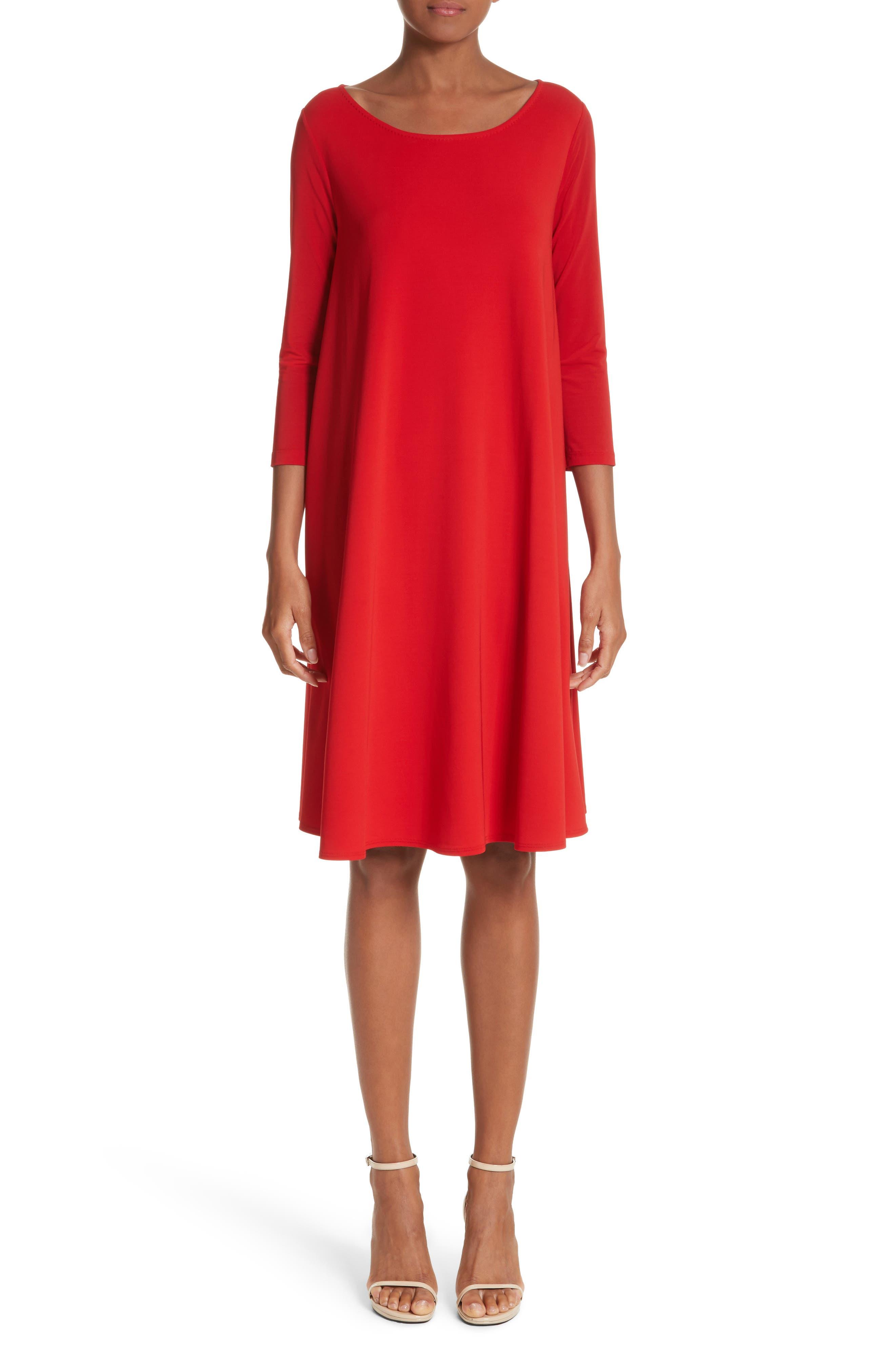 Pigna Swing Dress,                             Main thumbnail 1, color,                             Red