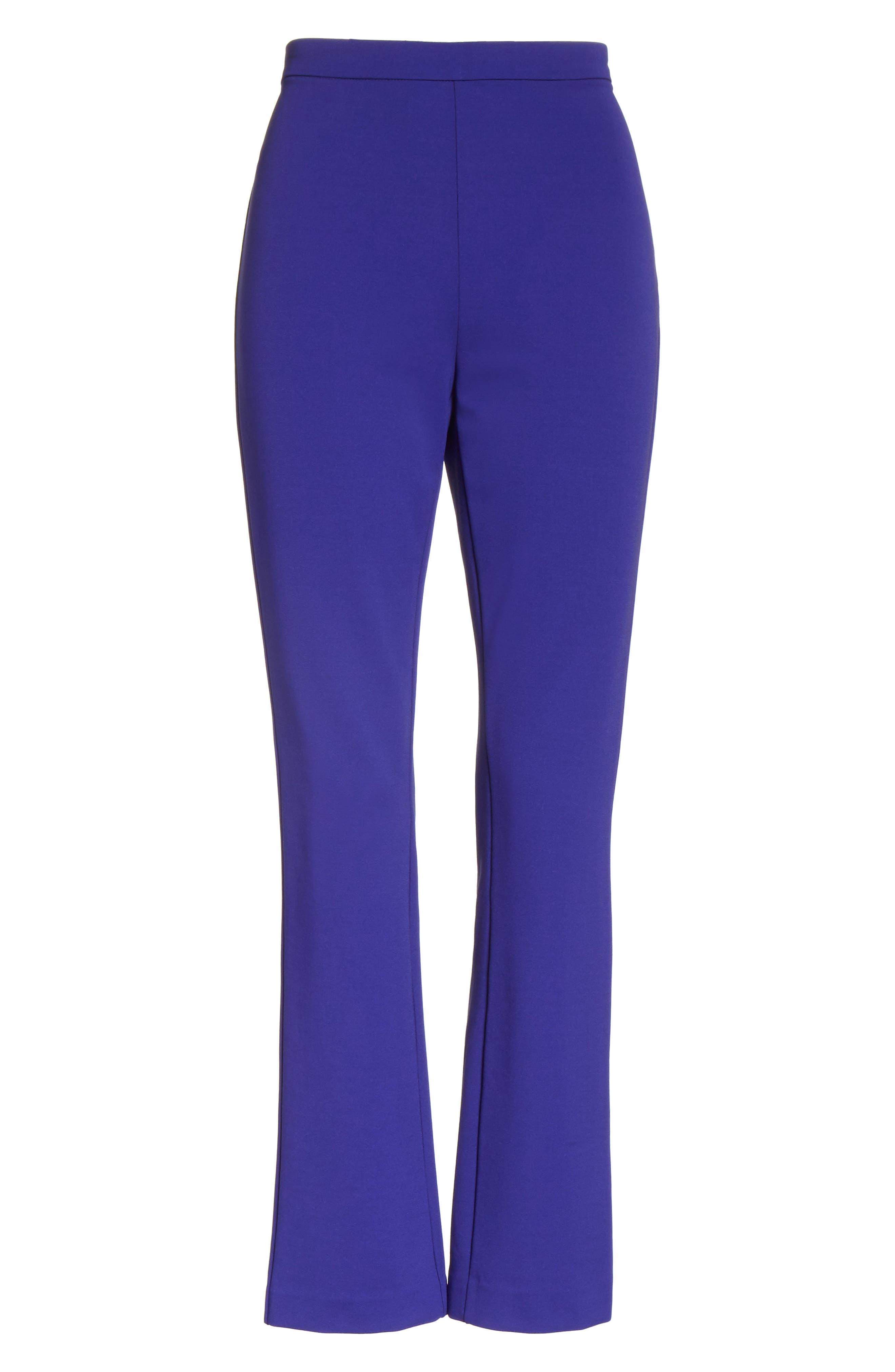 Calerno Crepe Crop Trousers,                             Alternate thumbnail 6, color,                             Violet