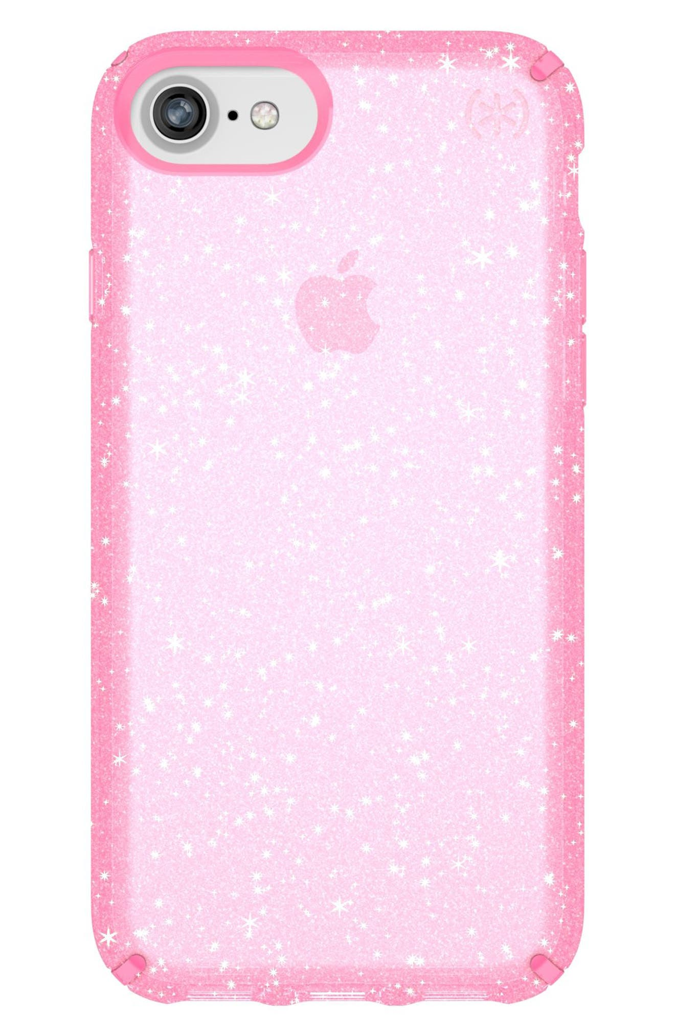 iPhone 6/6s/7/8 Case,                         Main,                         color, Bella Pink Gold Glitter/ Pink