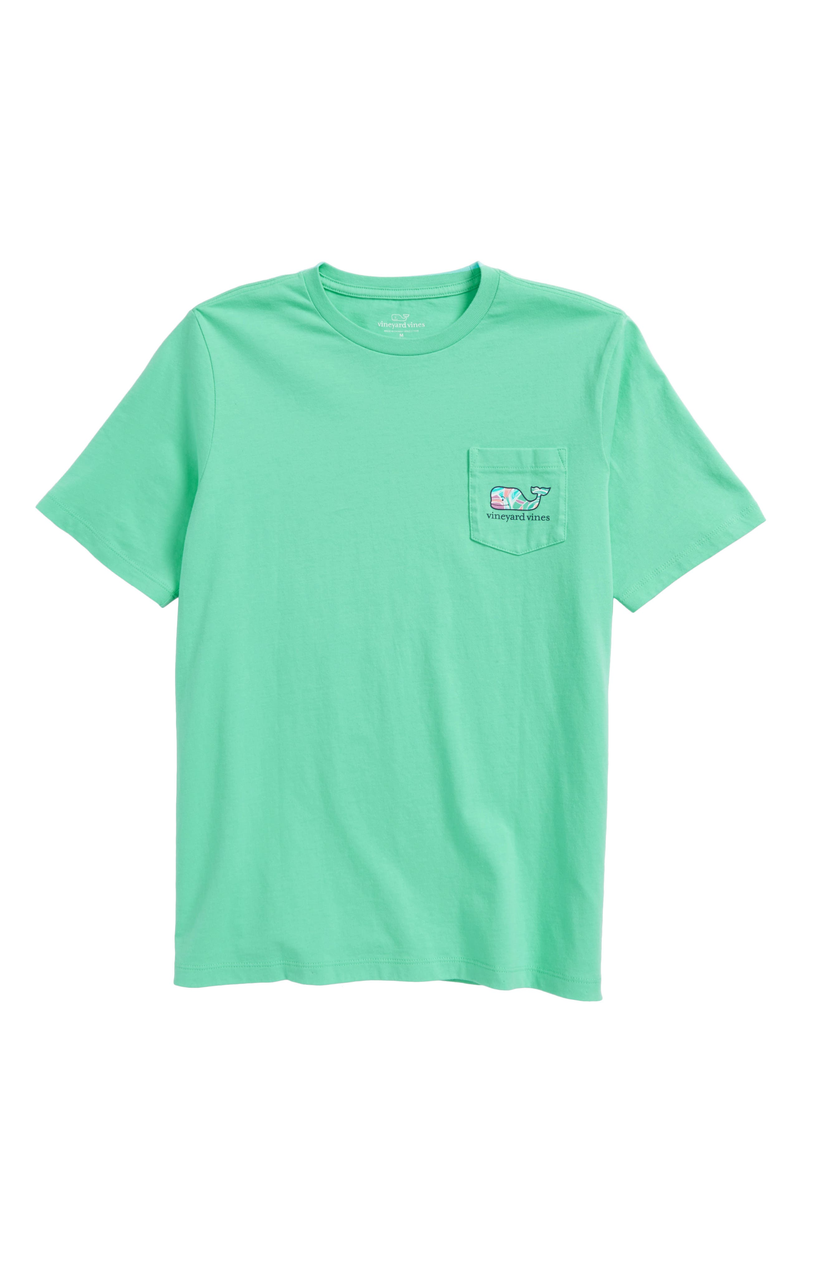 Alternate Image 1 Selected - vineyard vines Gulf Tropical Whale Fill Pocket T-Shirt (Big Boys)