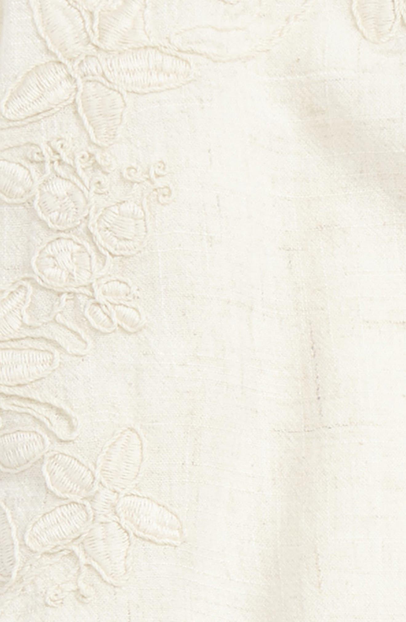 Alternate Image 2  - For All Seasons Embroidered Linen Tassel Tank (Big Girls)