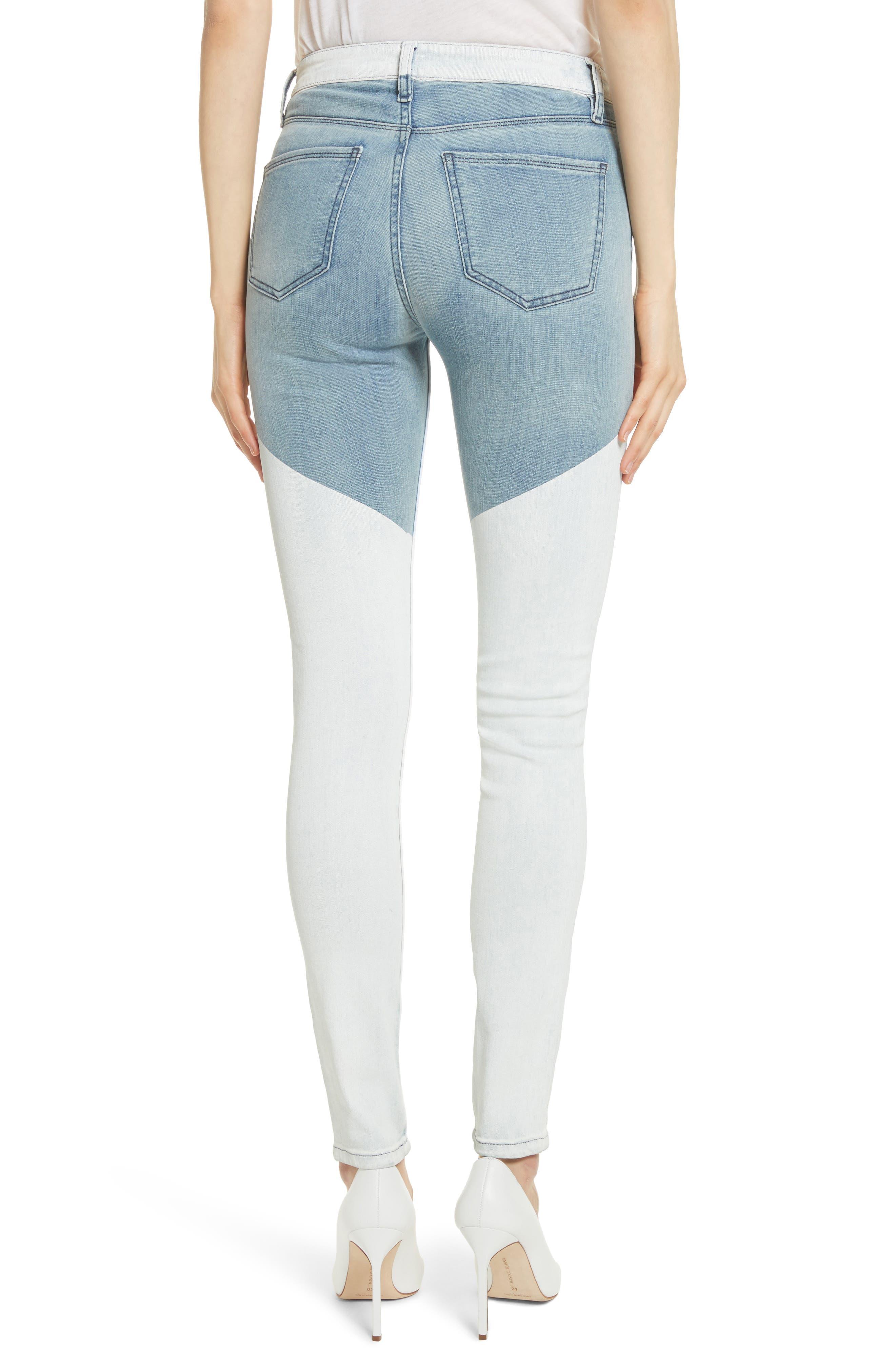 Alternate Image 2  - BROCKENBOW Emma Coated Skinny Jeans (Running Blue)