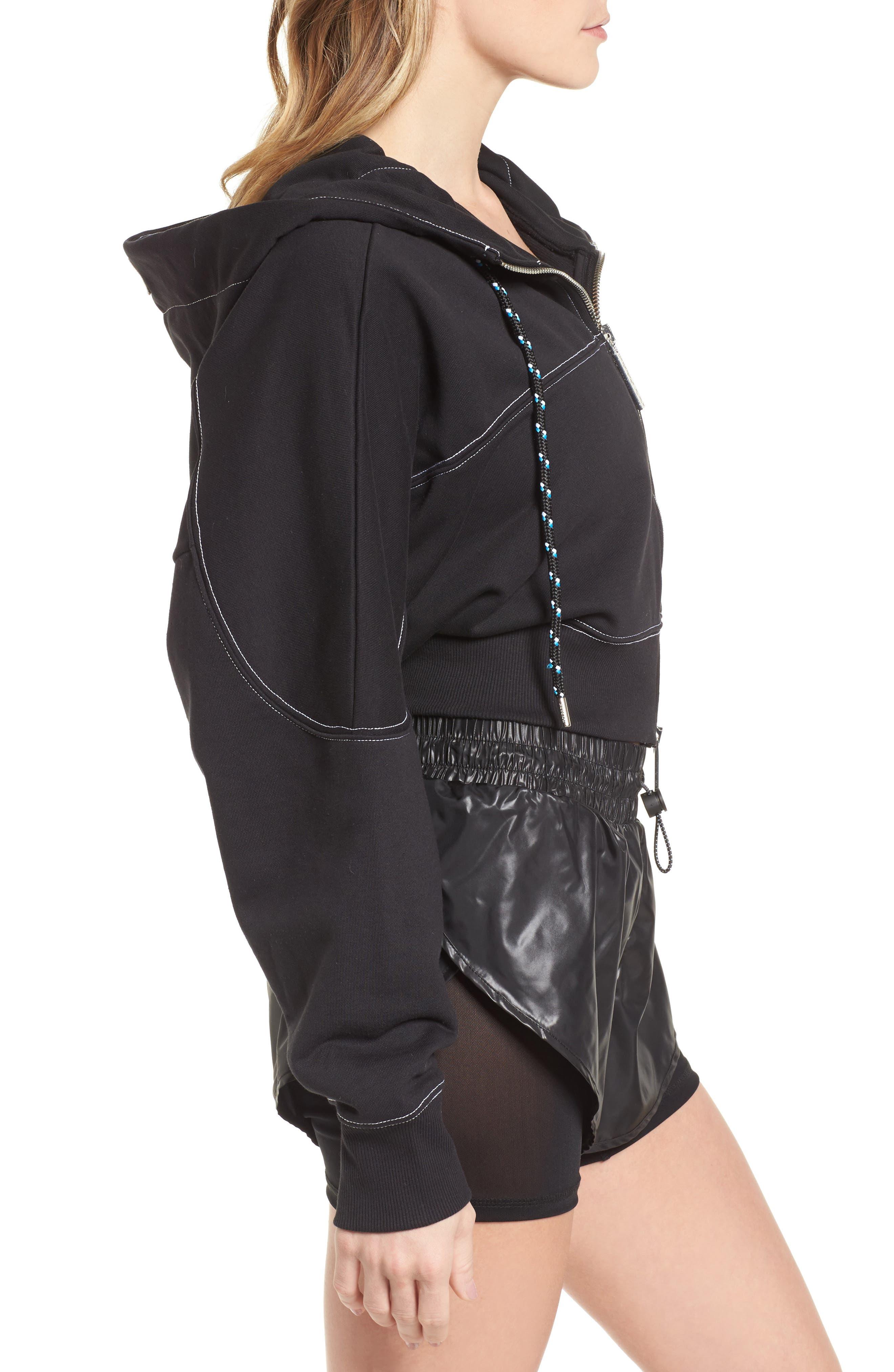 Alternate Image 4  - IVY PARK® Lace-Up Back Zip Through Hoodie