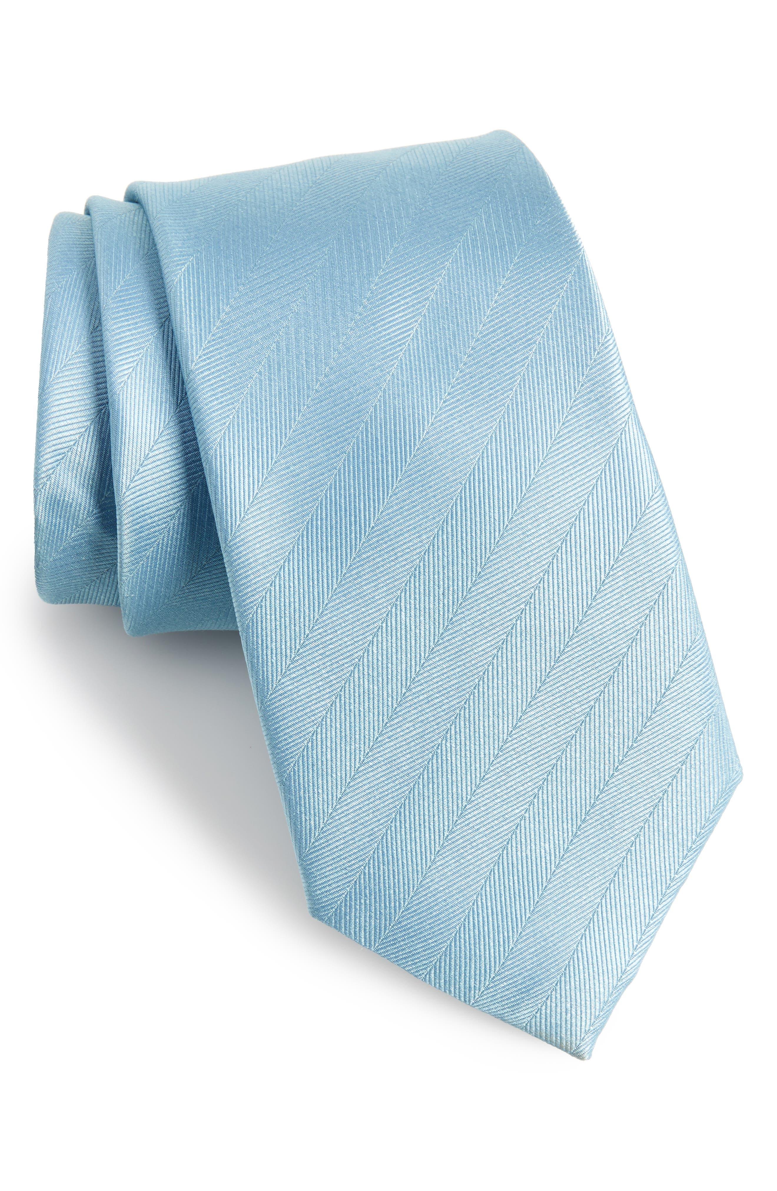 The Tie Bar Herringbone Silk Tie (X-Long)