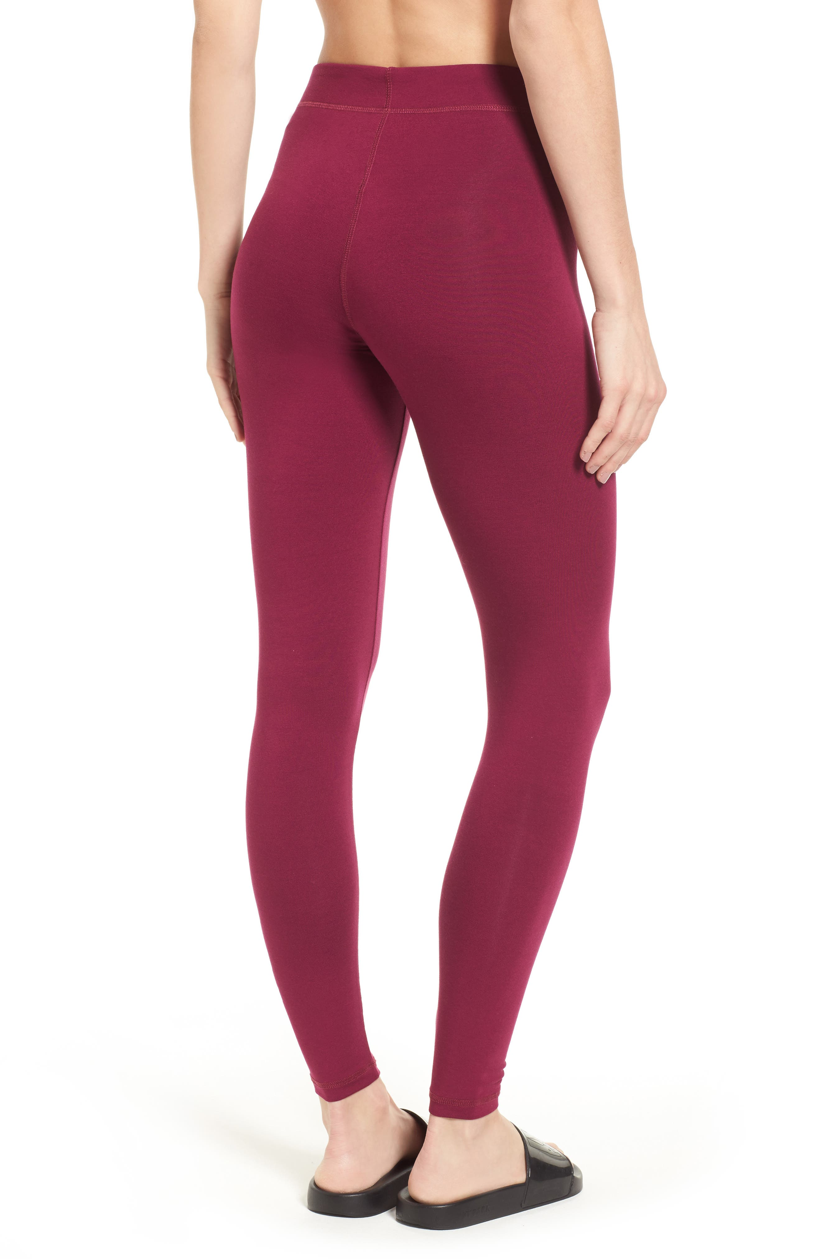 Logo Ankle Leggings,                             Alternate thumbnail 2, color,                             Purple Potion